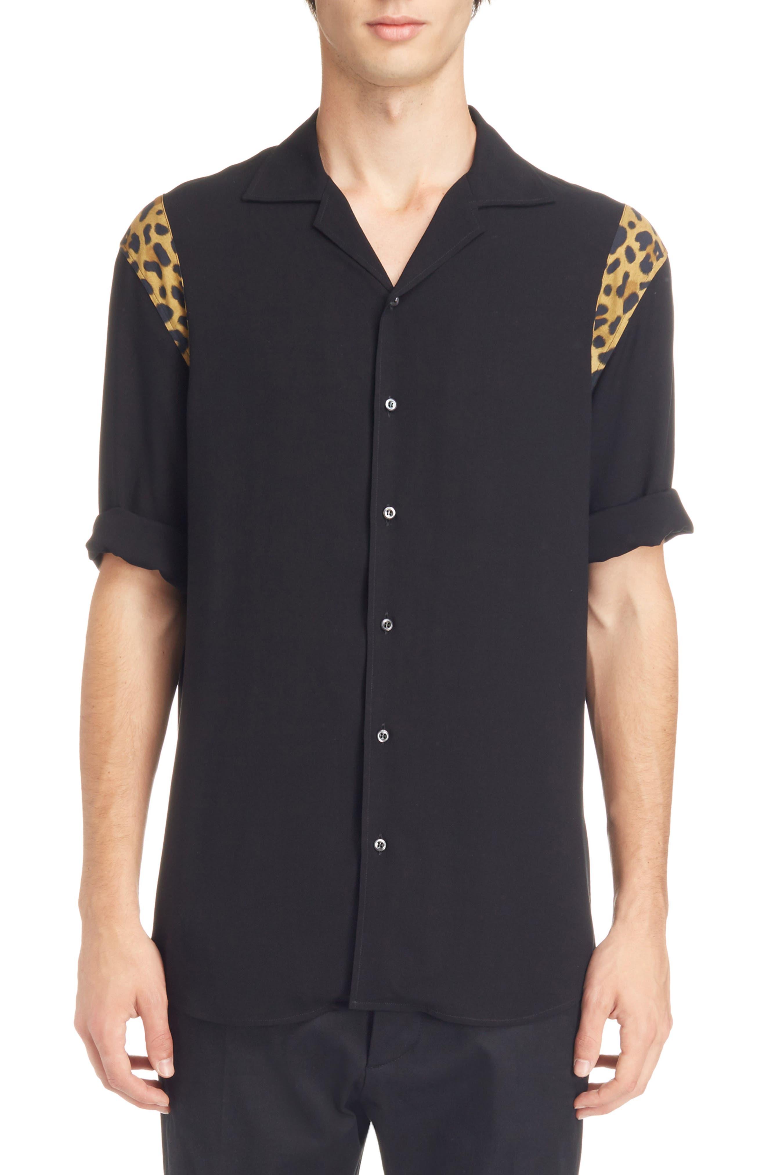 Bowling Shirt,                         Main,                         color, Black