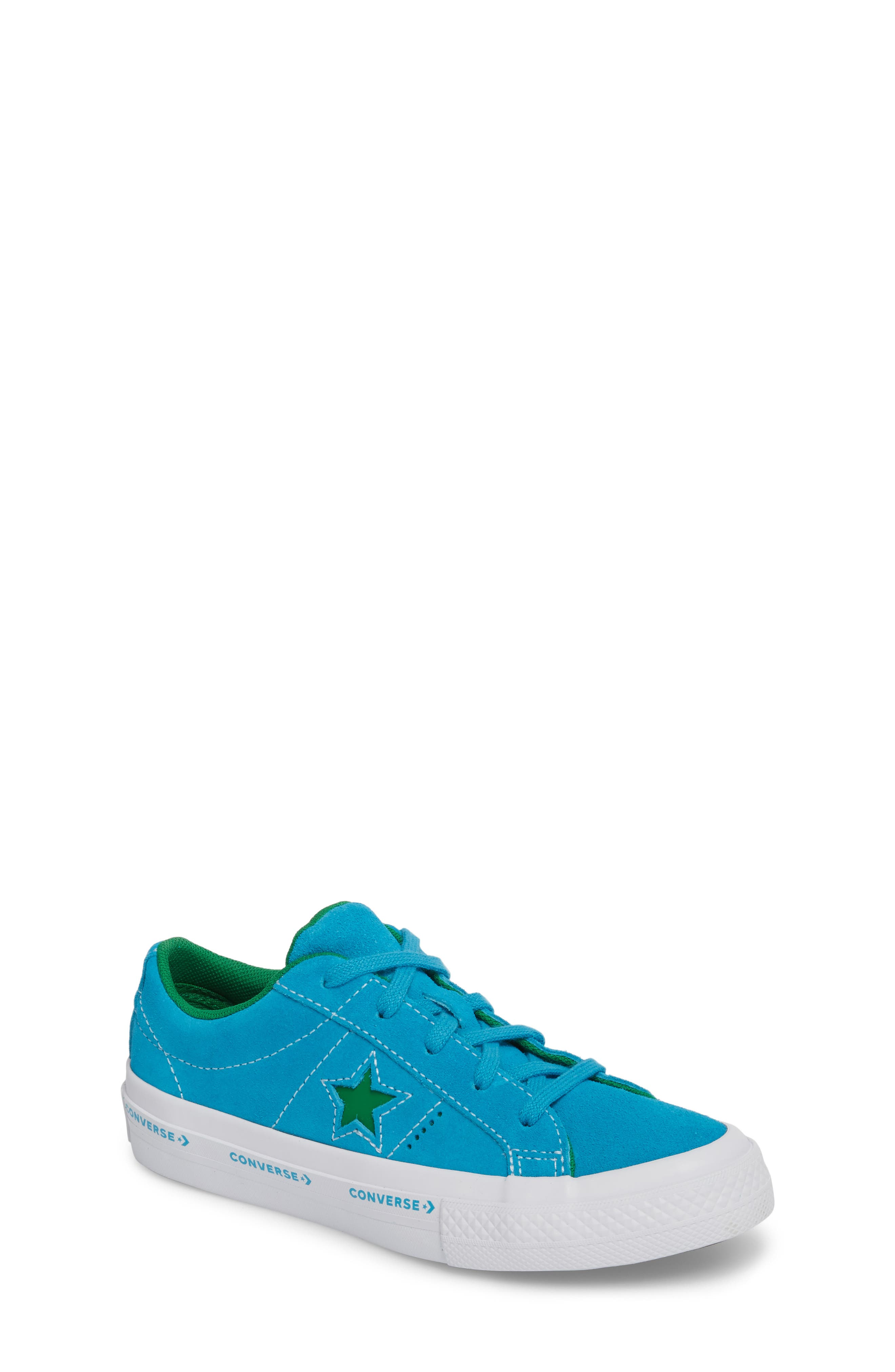 Chuck Taylor<sup>®</sup> All Star<sup>®</sup> One Star Leather Platform Sneaker,                             Main thumbnail 1, color,                             Hawaiian Ocean
