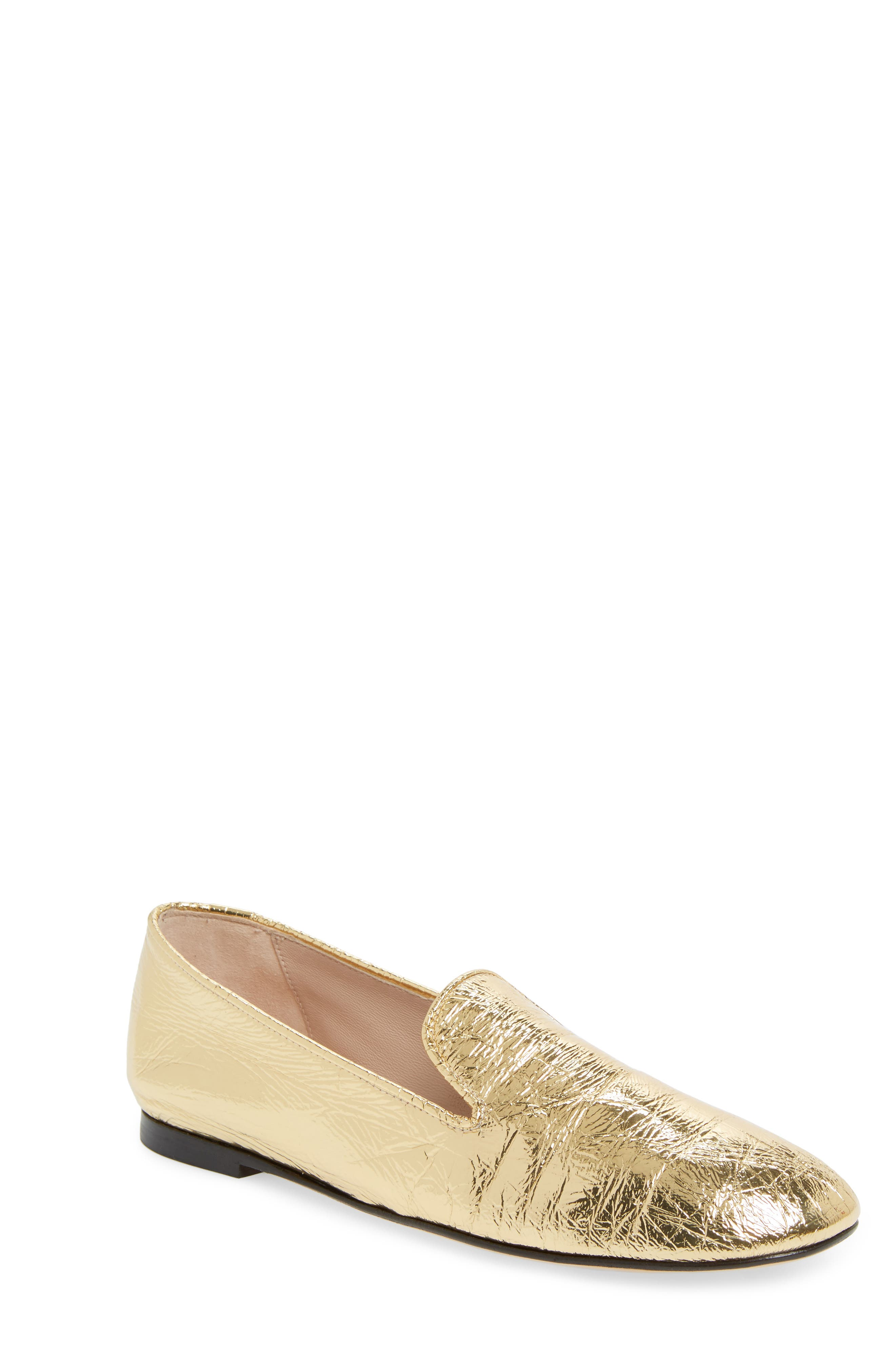 Myguy Venetian Loafer,                         Main,                         color, Gold Look
