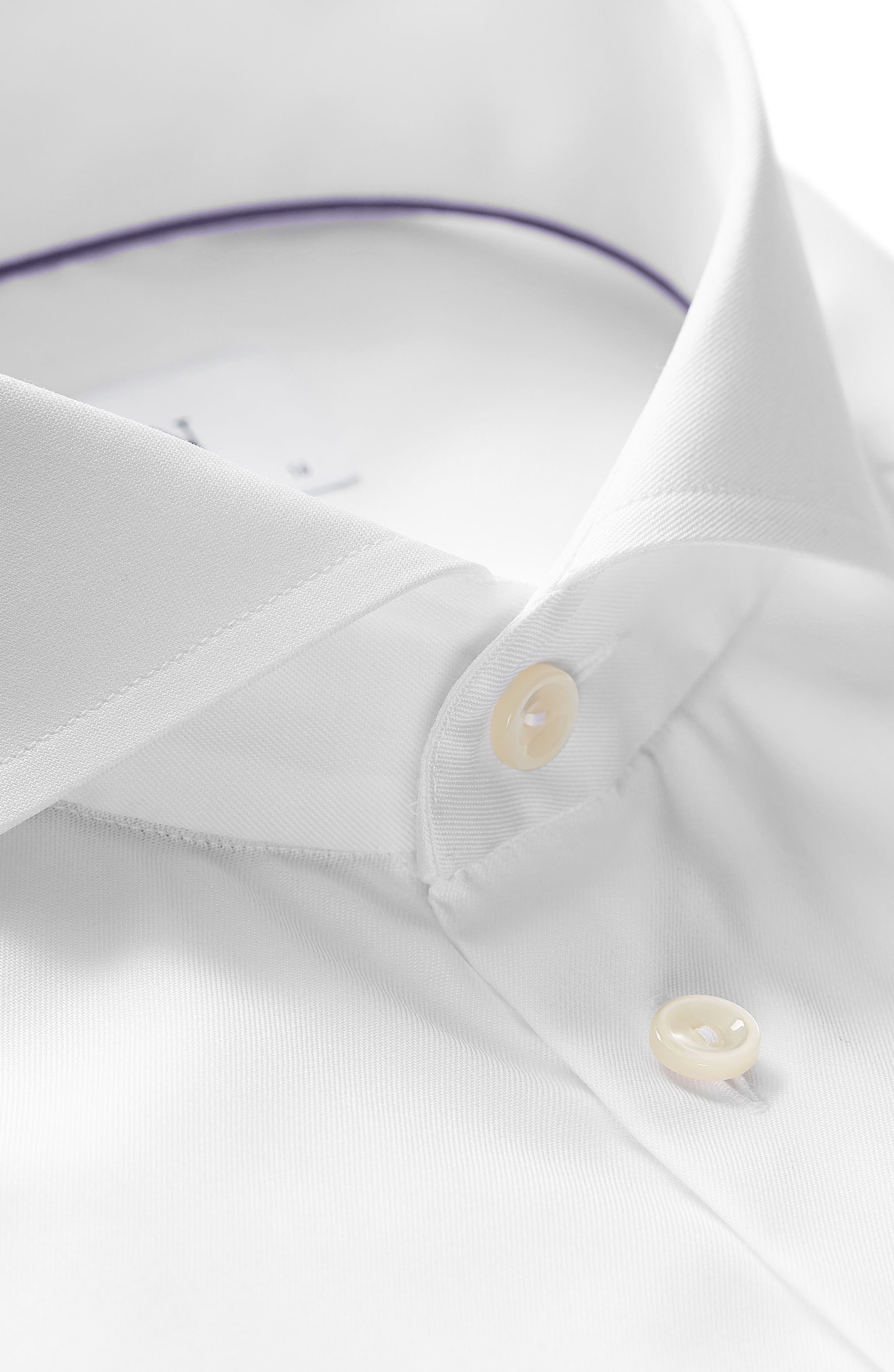 Extra Slim Fit Solid Dress Shirt,                             Alternate thumbnail 2, color,                             White