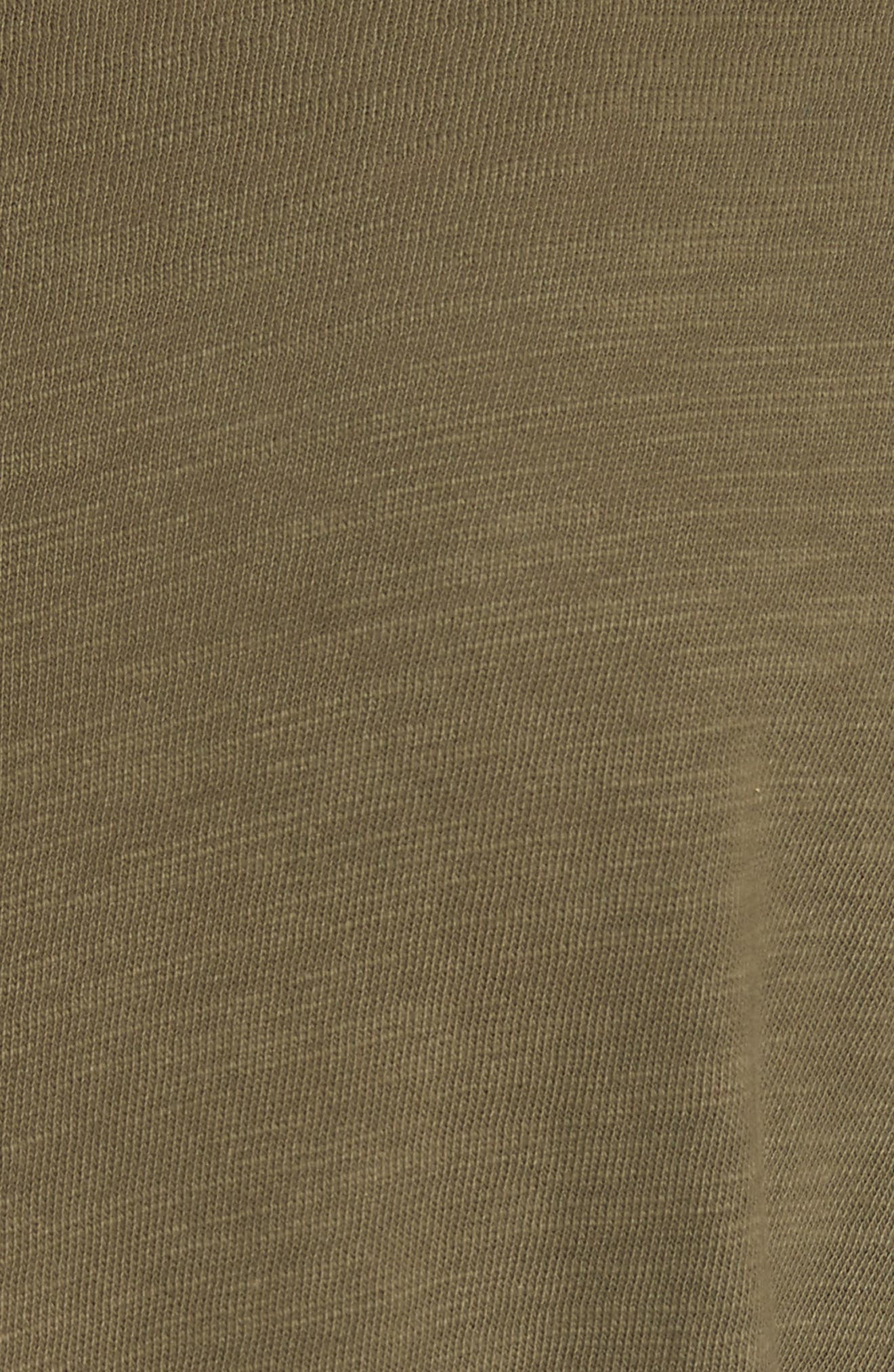 Standard Issue Slubbed Cotton T-Shirt,                             Alternate thumbnail 5, color,                             Army
