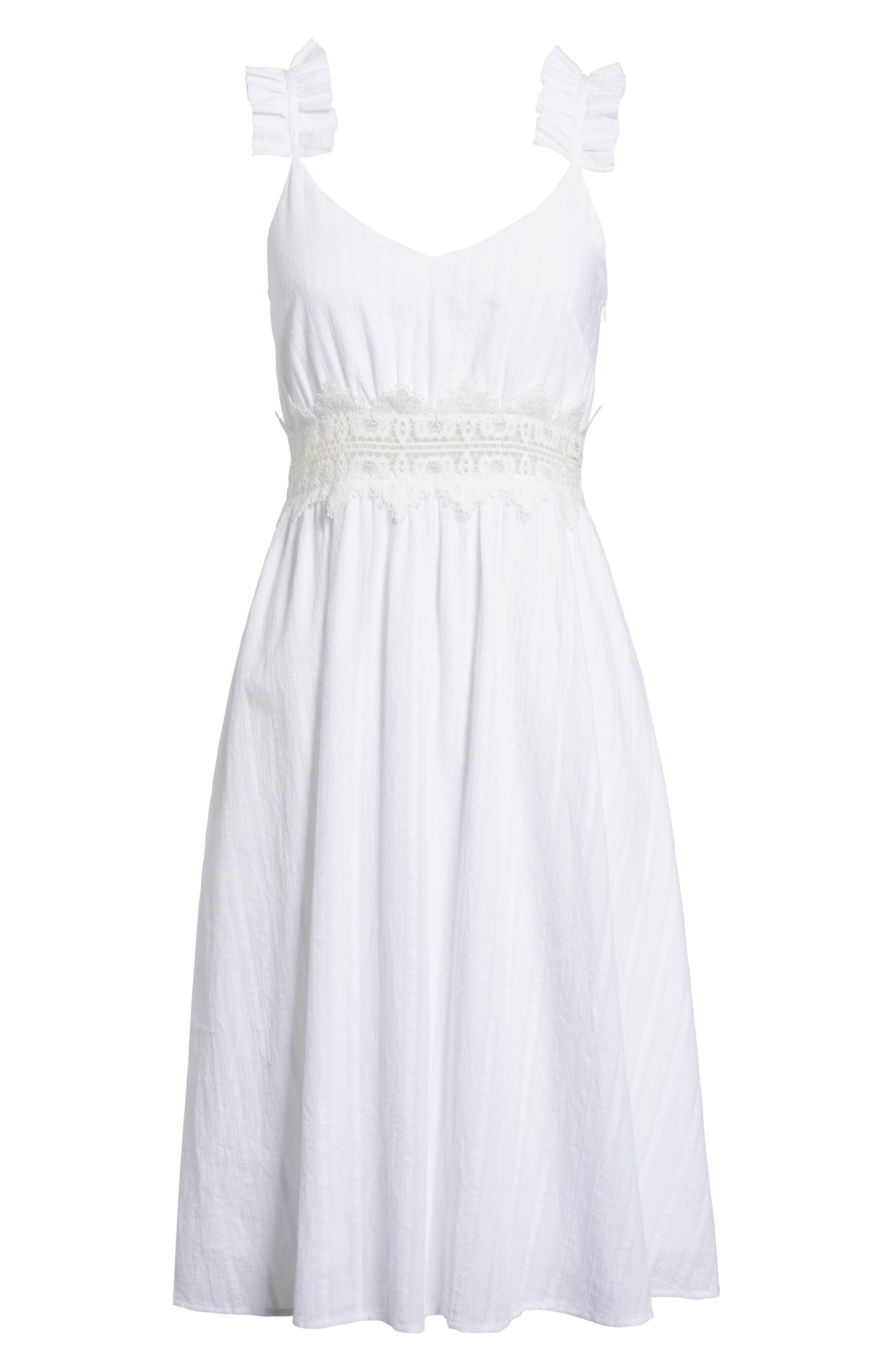 Alternate Image 7  - Moon River Lace Inset Cotton Dress