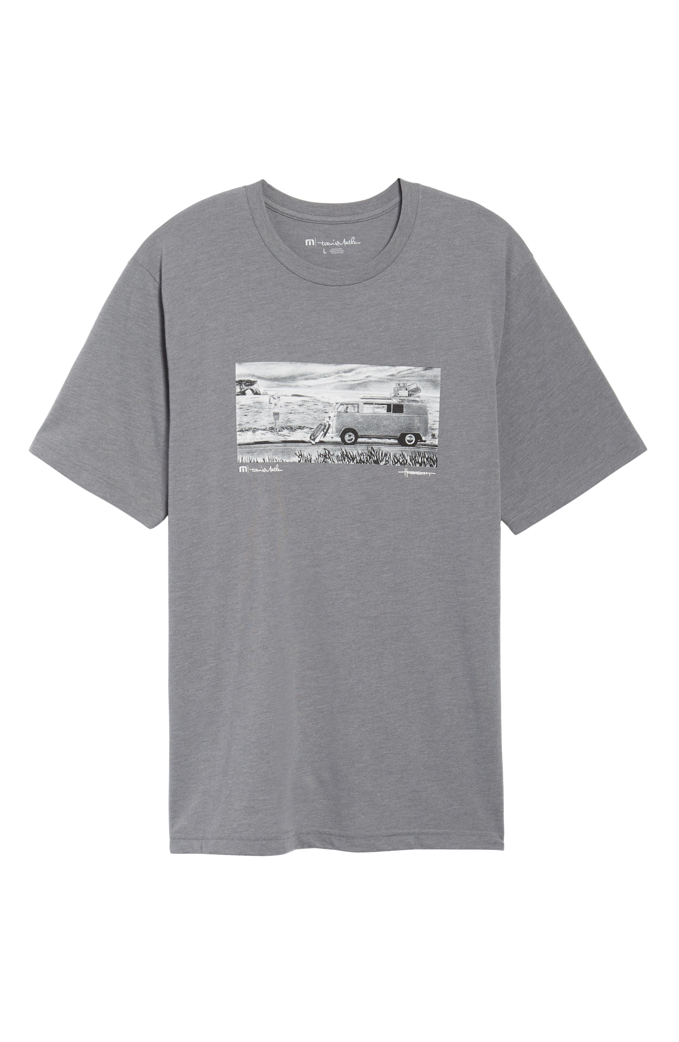 The Bus Stop Graphic T-Shirt,                             Alternate thumbnail 6, color,                             Heather Grey