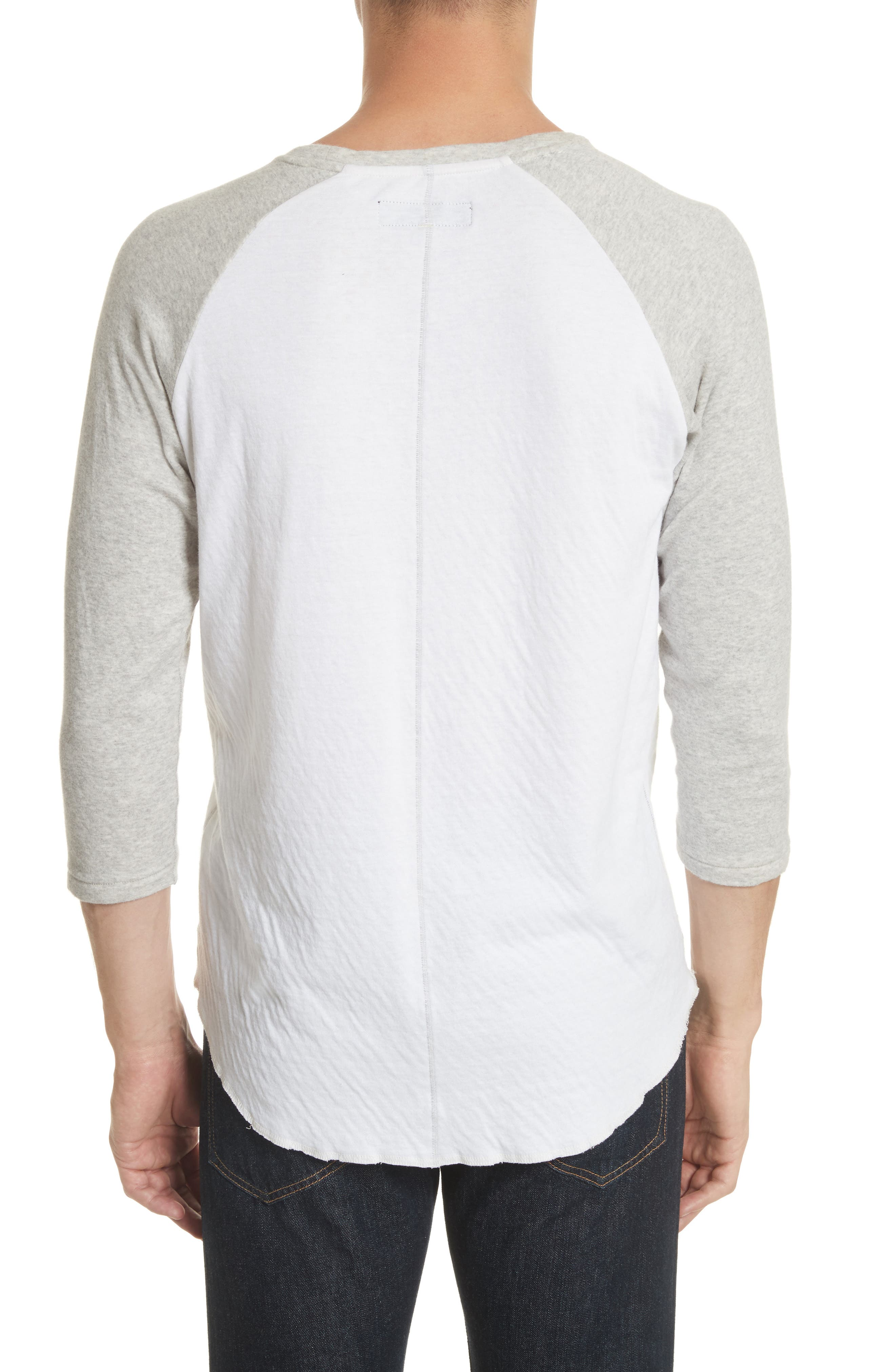 Rigby Baseball T-Shirt,                             Alternate thumbnail 2, color,                             Grey/ White