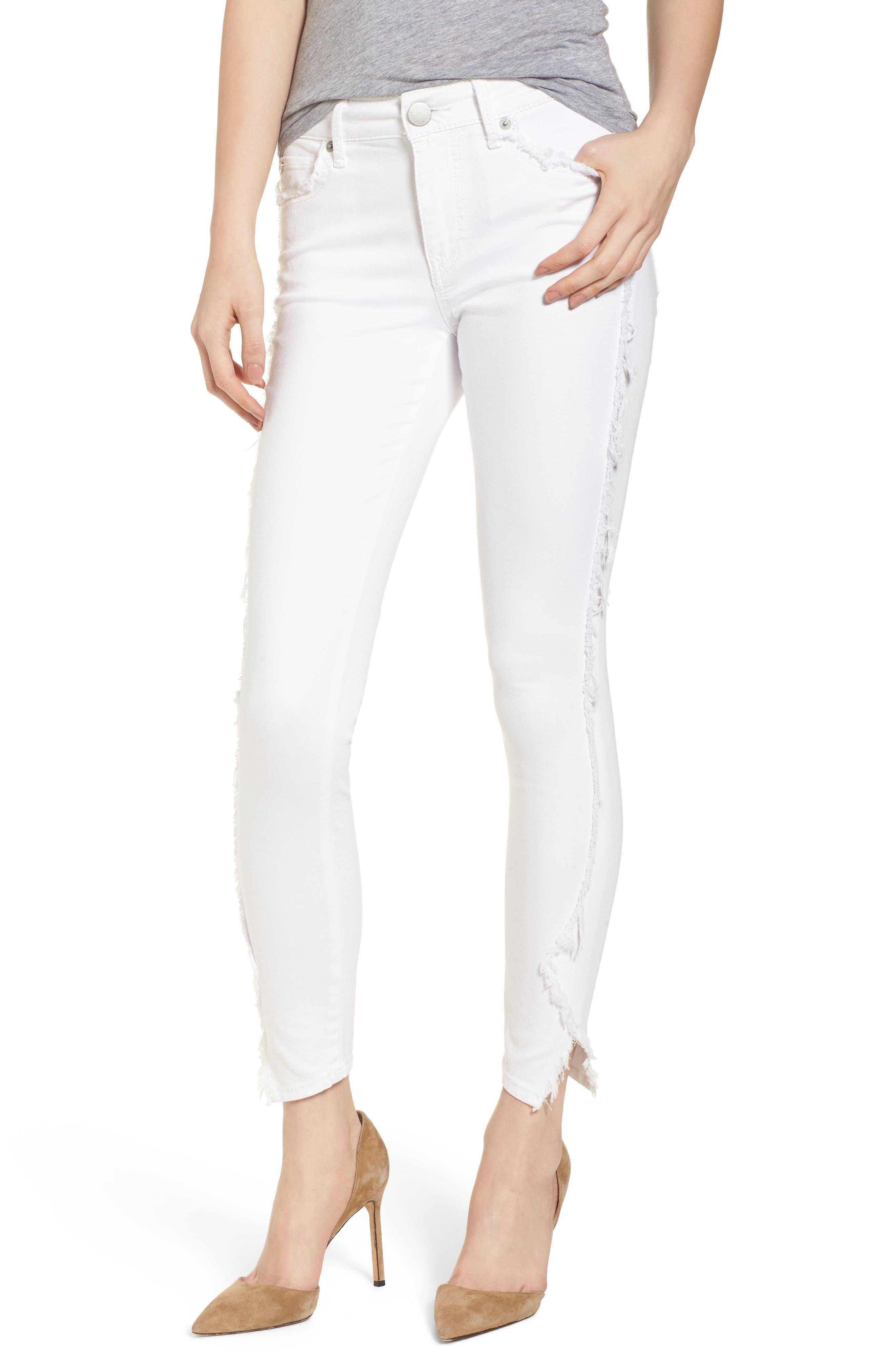 Jennie Curvy Skinny Jeans,                             Main thumbnail 1, color,                             Optic White