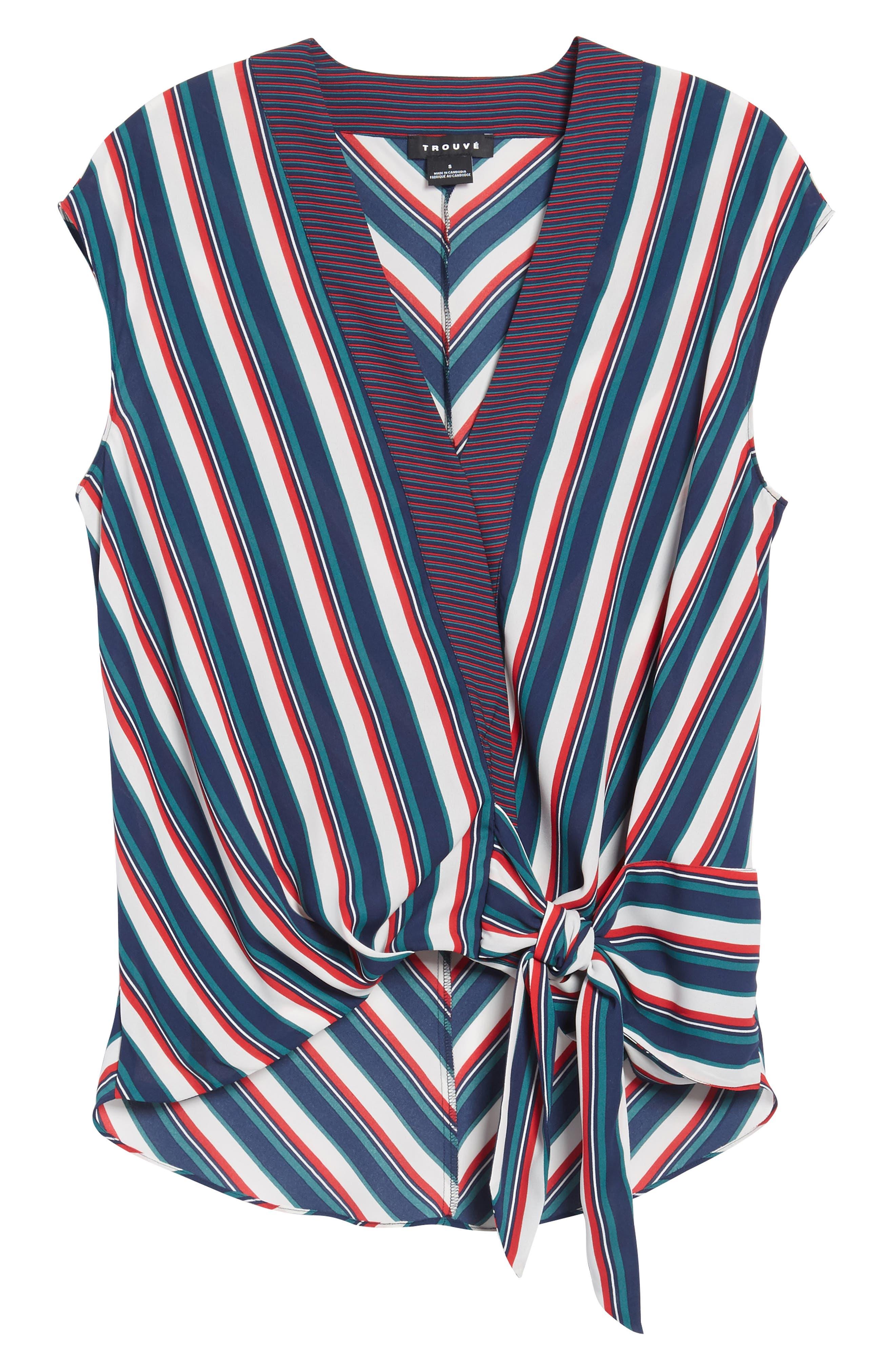 Alternate Image 6  - Trouvé Stripe Wrap Top