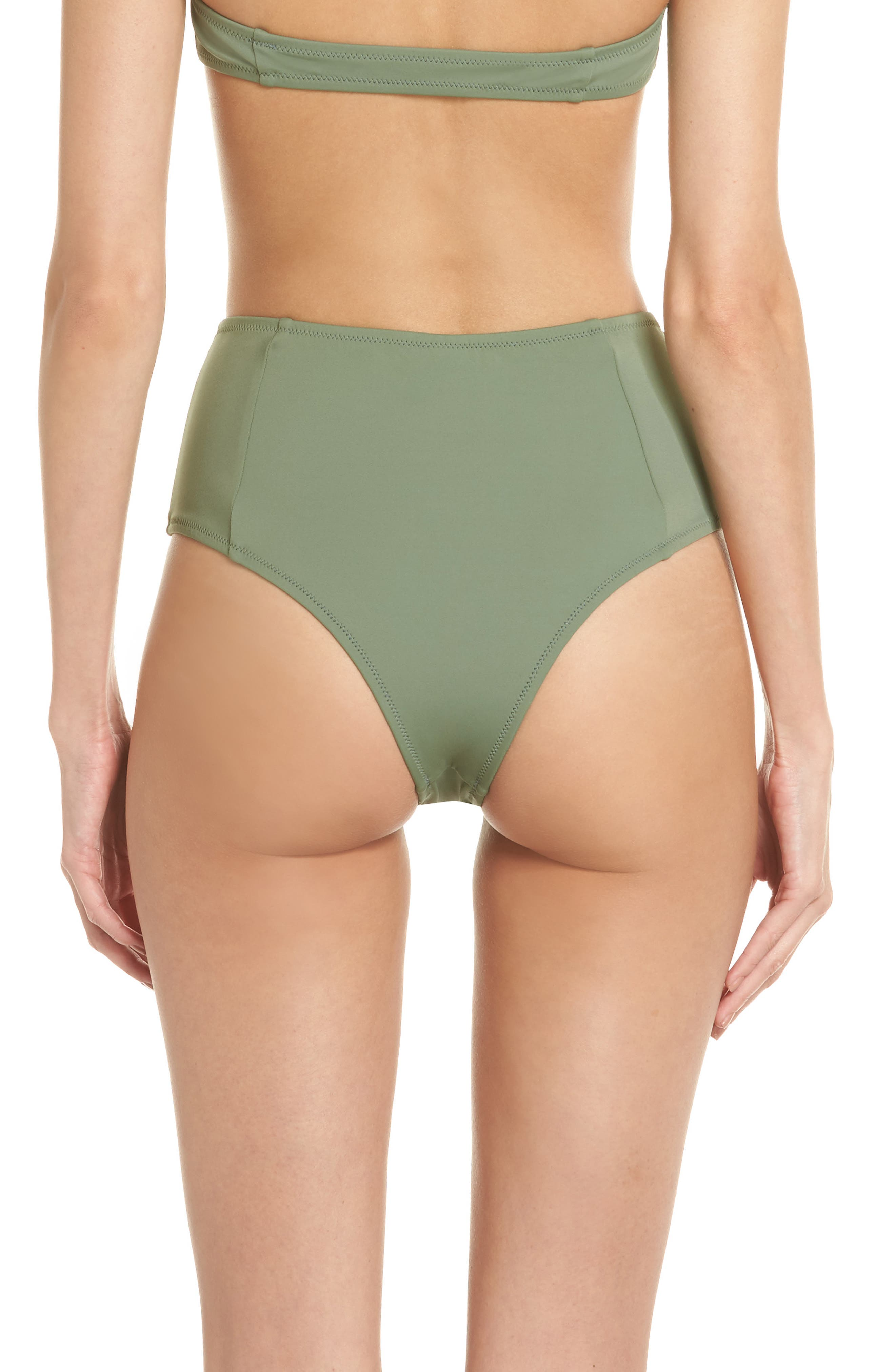 The Jessica High Waist Bikini Bottoms,                             Alternate thumbnail 2, color,                             Green