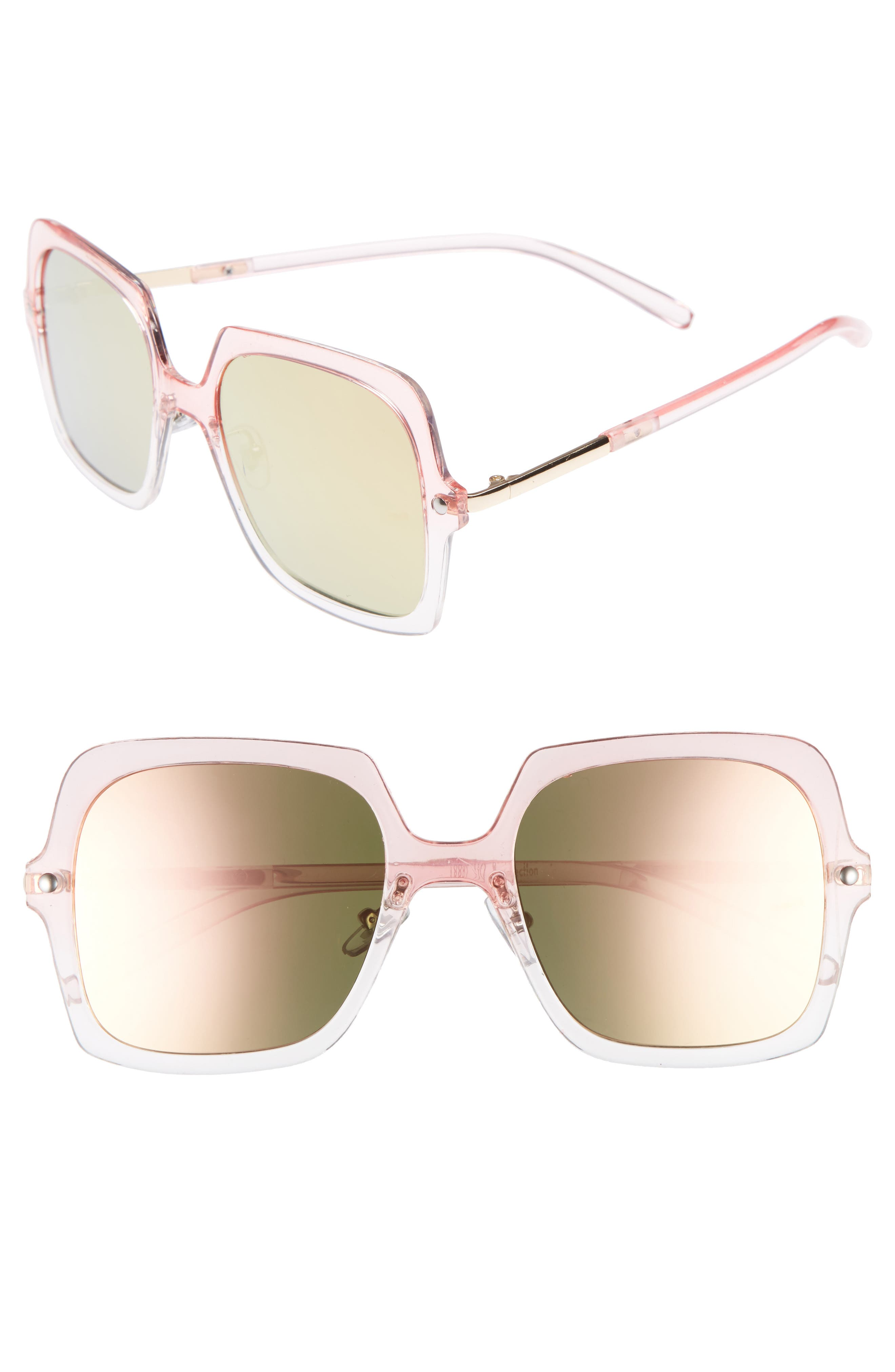 BP. Translucent Square Sunglasses