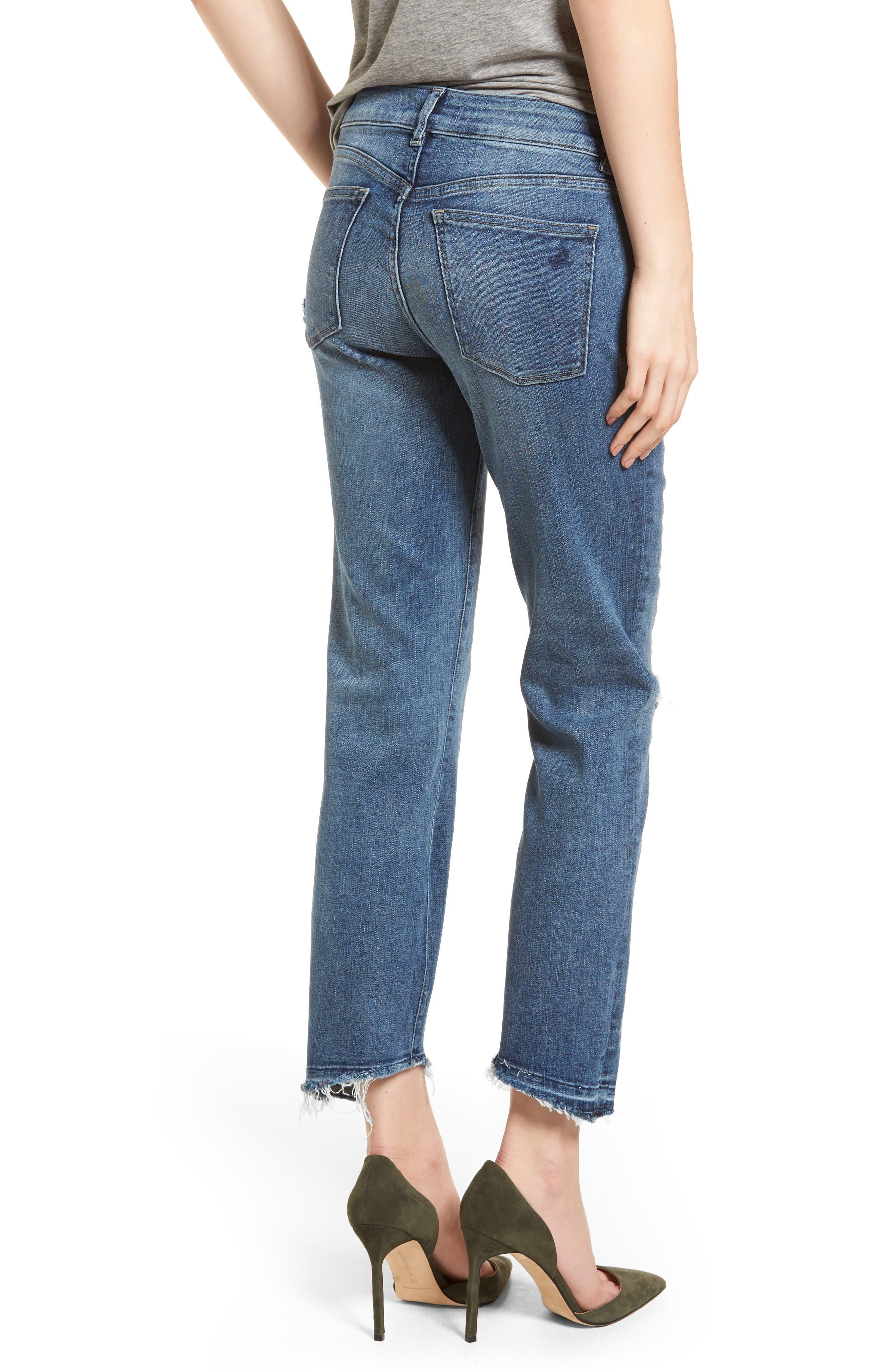 Mara Instasculpt Ankle Straight Leg Jeans,                             Alternate thumbnail 2, color,                             Castlewood