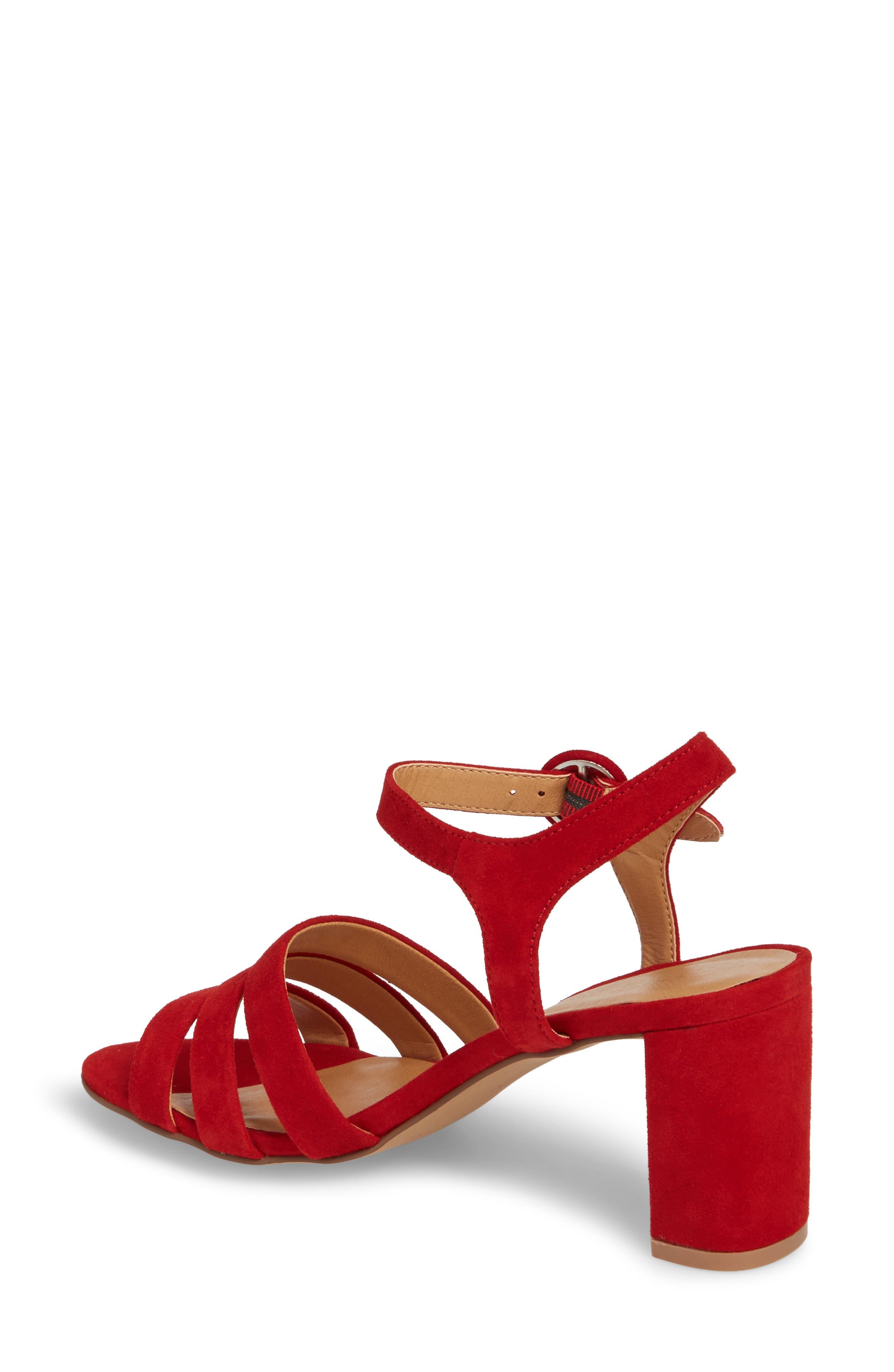 Ryden Strappy Sandal,                             Alternate thumbnail 2, color,                             Red