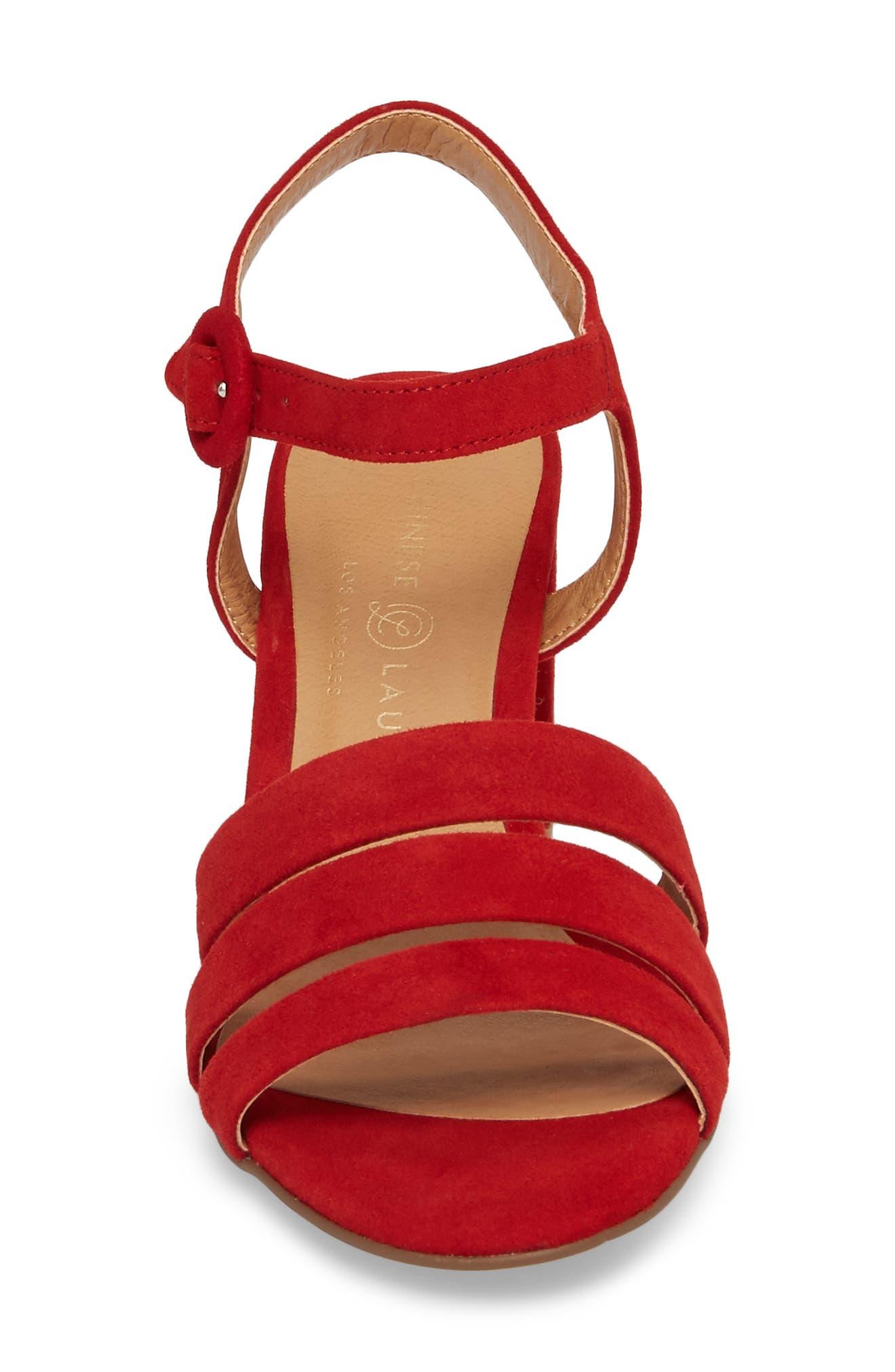 Ryden Strappy Sandal,                             Alternate thumbnail 4, color,                             Red