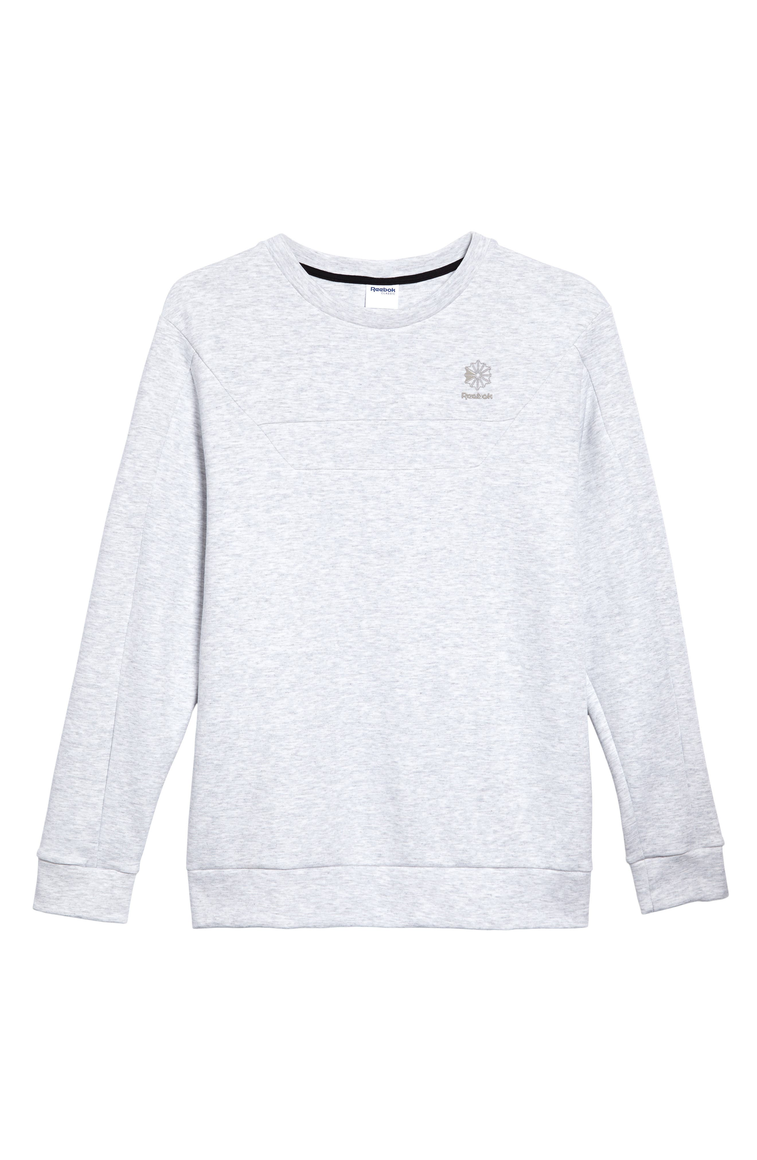 Double Sweatshirt,                             Alternate thumbnail 6, color,                             Light Grey Heather