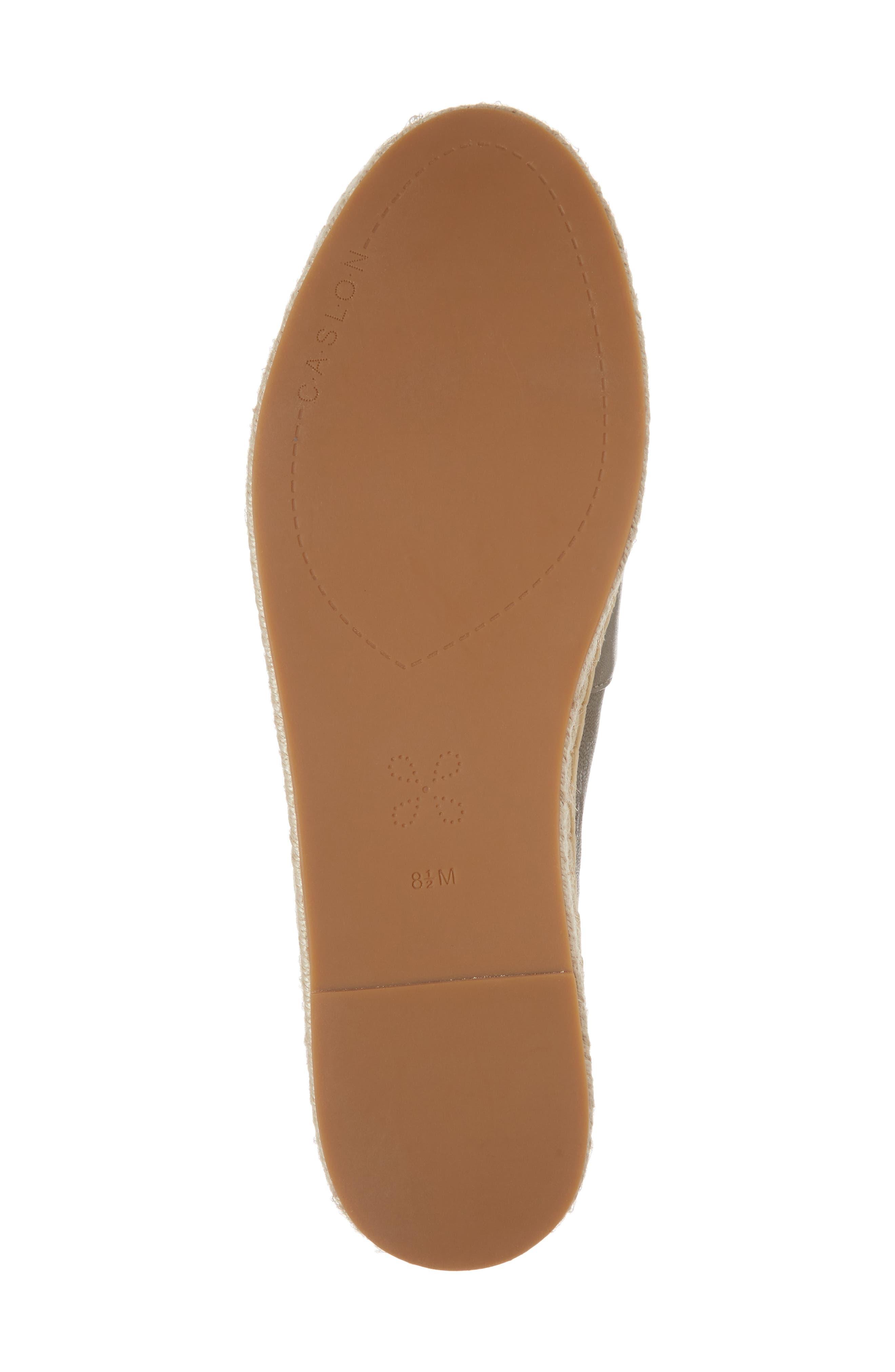Collins Lea Espadrille Platform Slip-On,                             Alternate thumbnail 6, color,                             Grey Leather