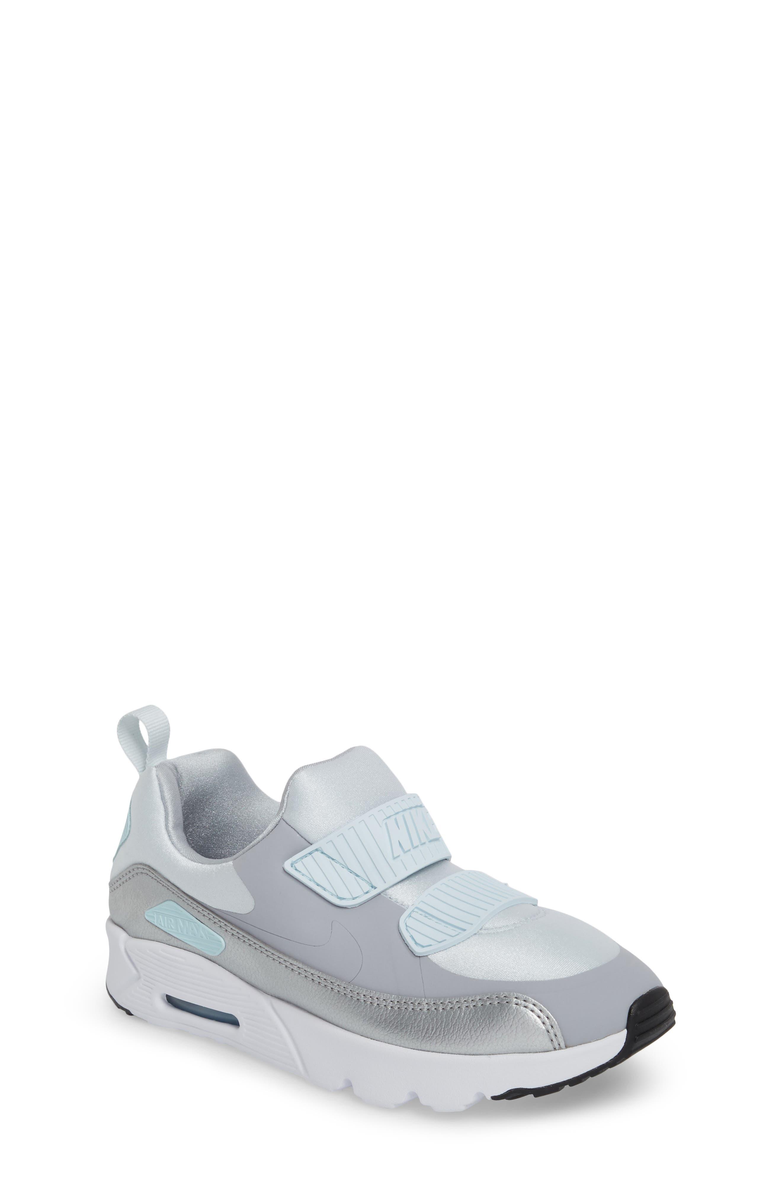 Air Max Tiny 90 Sneaker,                             Main thumbnail 1, color,                             Platinum/ Grey/ Silver