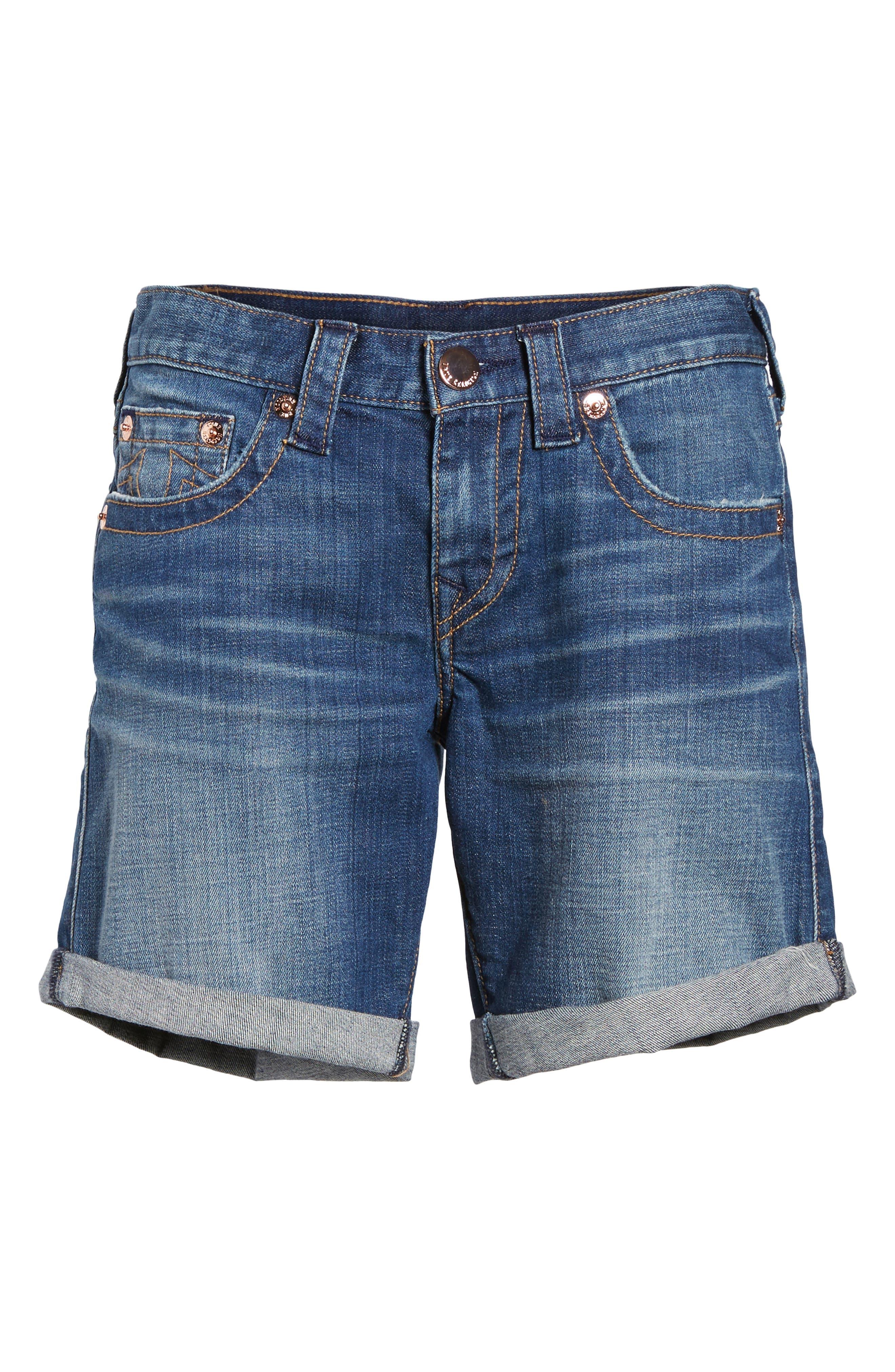 Jayde Shorts,                             Alternate thumbnail 6, color,                             Hardware Blue