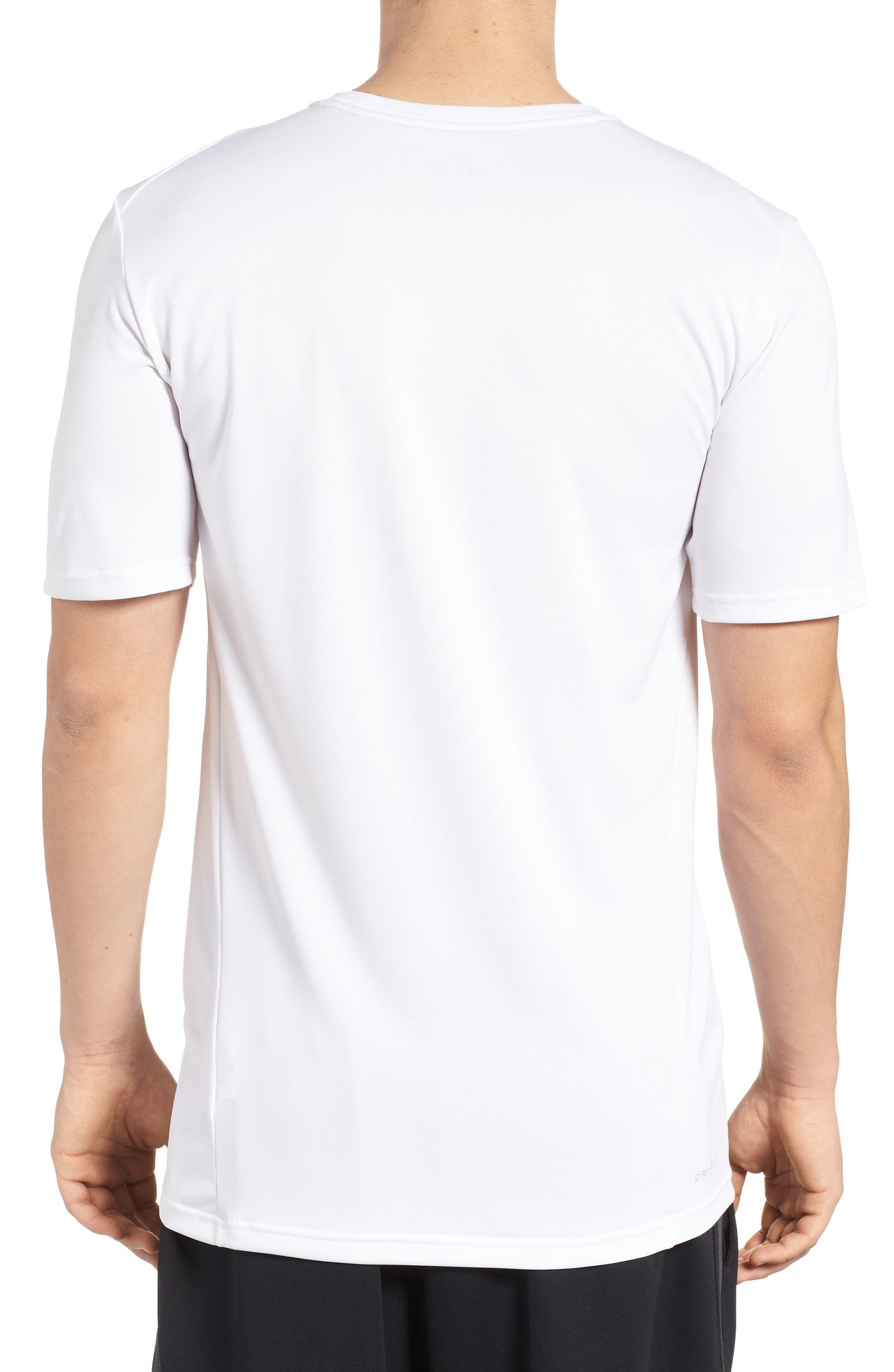 Hyper Dry Training T-Shirt,                             Alternate thumbnail 2, color,                             White/ White/ Black