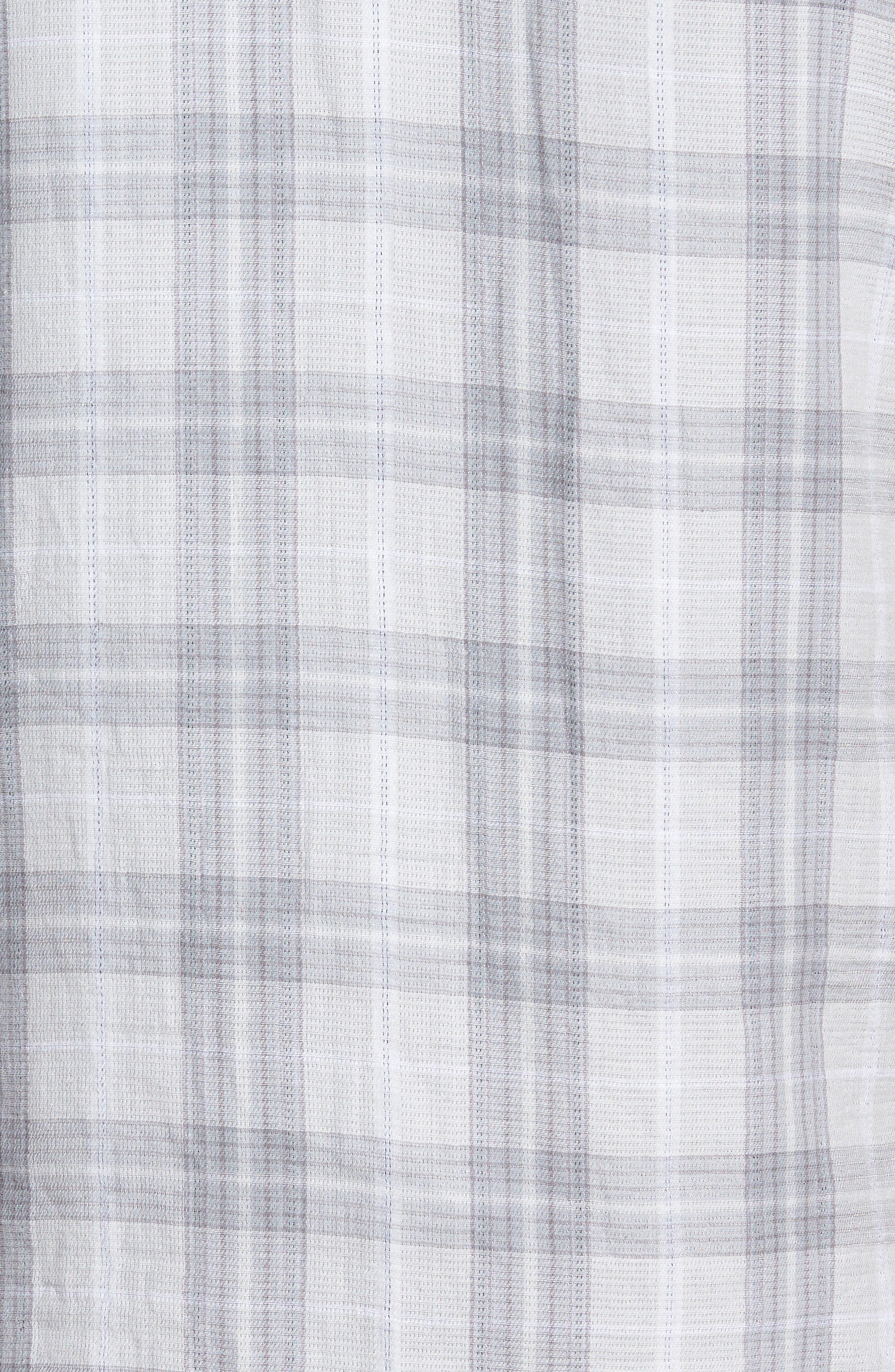 Plaid Short Sleeve Sport Shirt,                             Alternate thumbnail 4, color,                             Grey Sleet Plaid Duofold