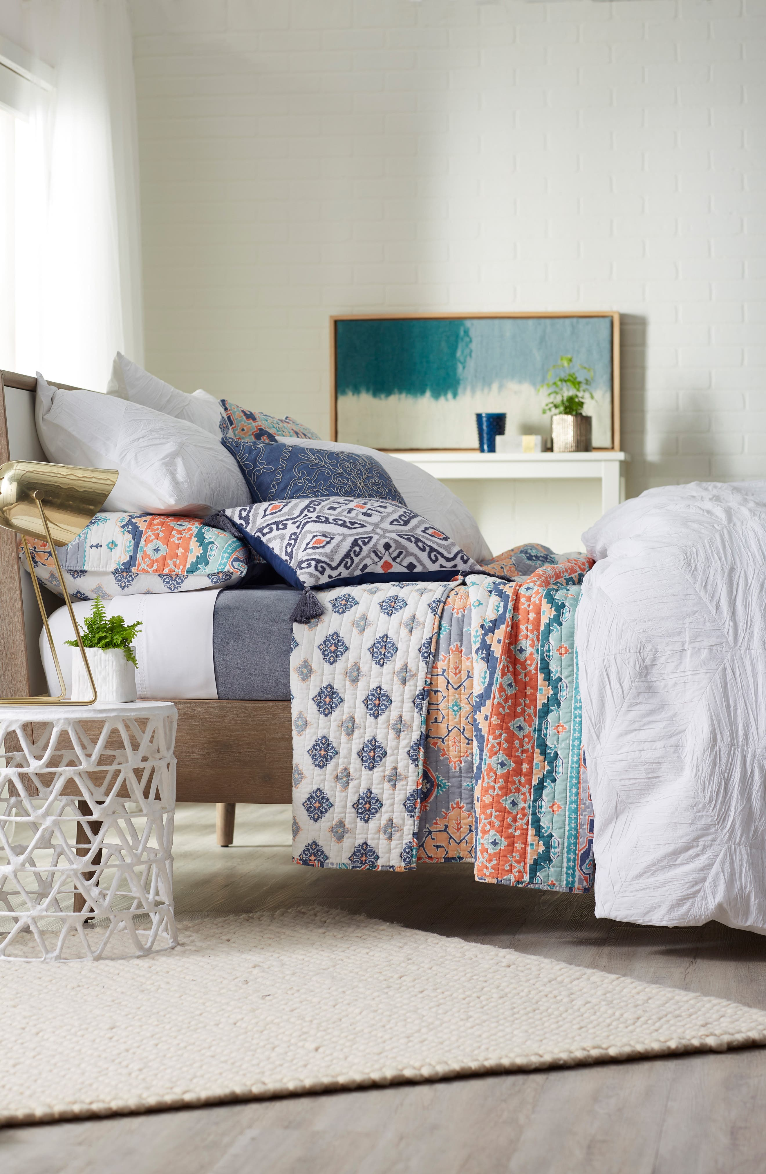 Saida Accent Pillow,                             Alternate thumbnail 4, color,                             Blue