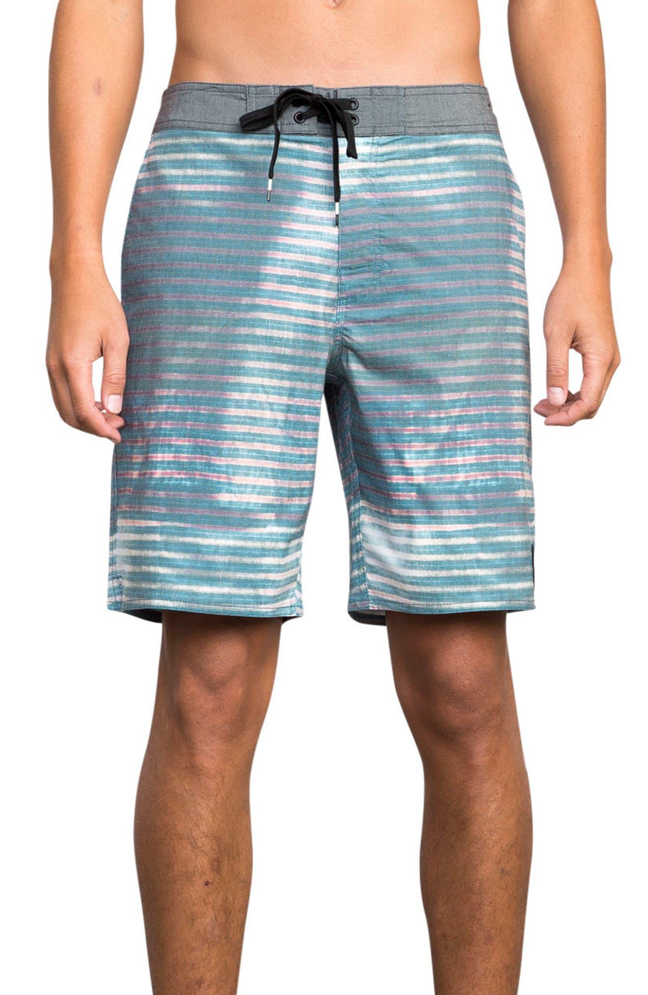Boppa Stripe Swim Trunks,                             Main thumbnail 1, color,                             Blue Fade