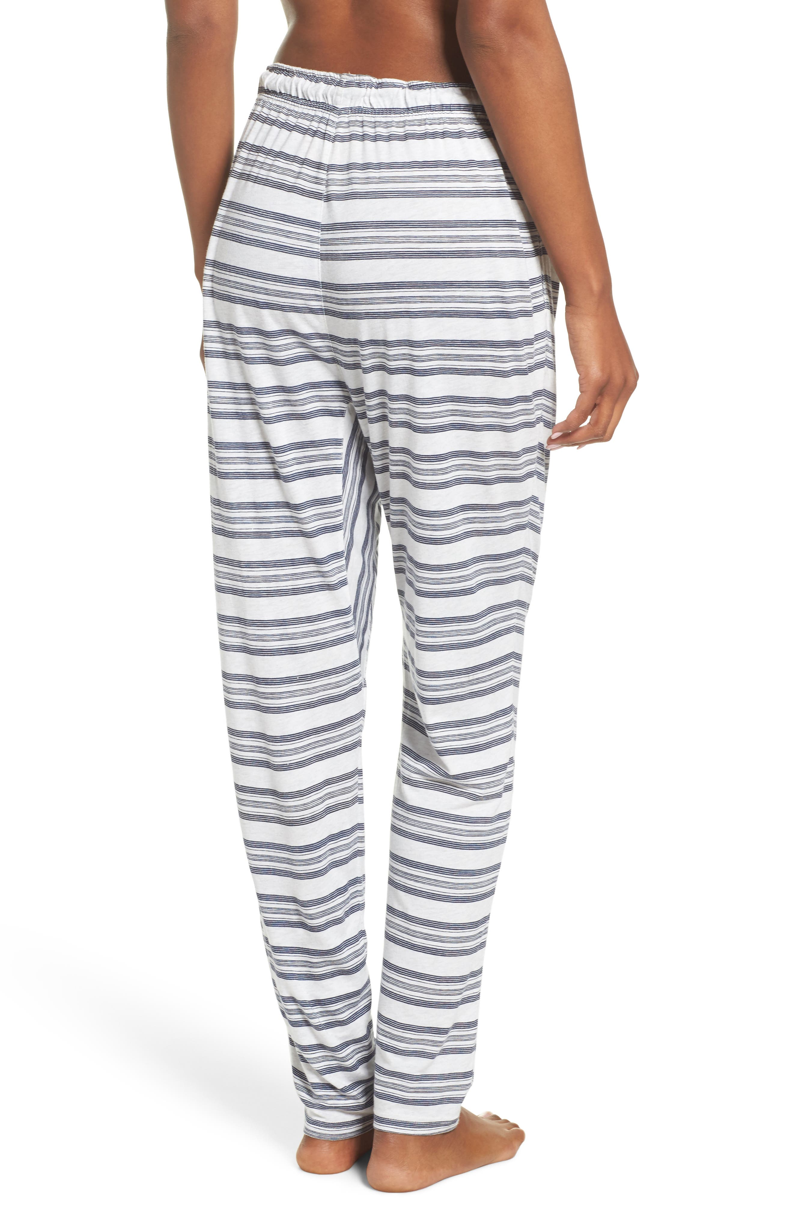 Alice Lounge Pants,                             Alternate thumbnail 3, color,                             Snow Marle Stripe