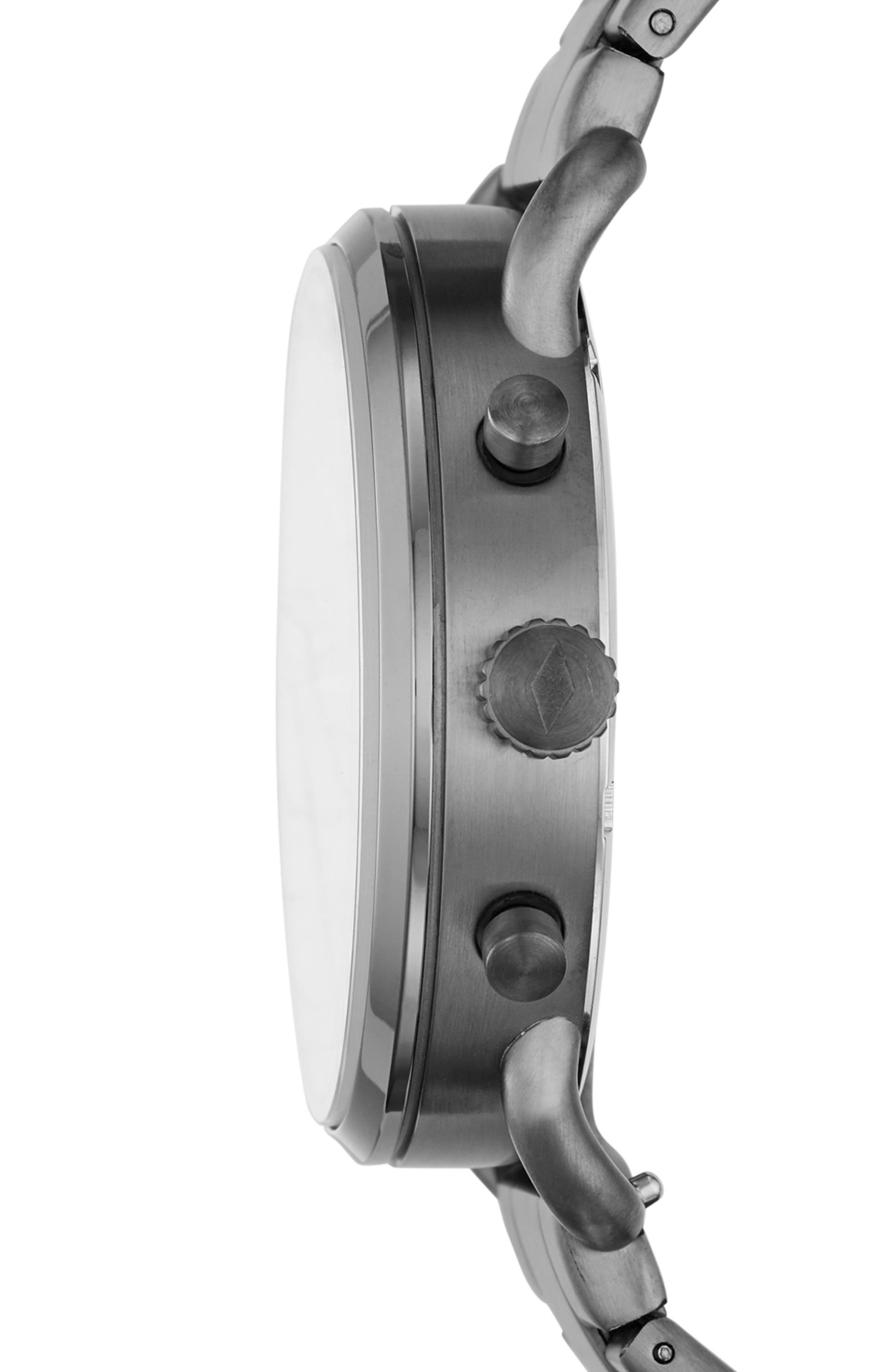 The Commuter Chronograph Bracelet Watch, 42mm,                             Alternate thumbnail 2, color,                             Grey/ Black/ Smoke