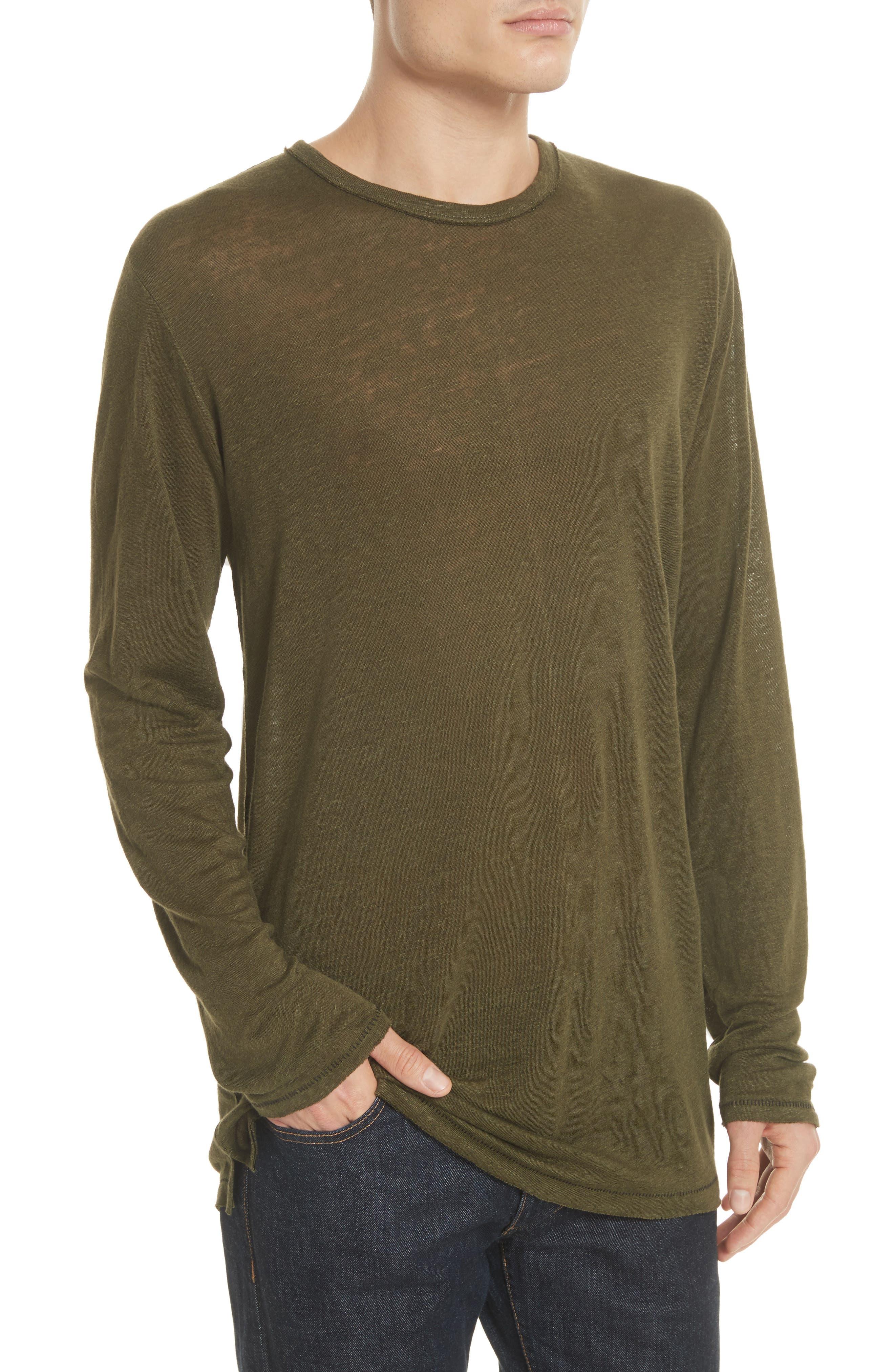 Owen Long Sleeve T-Shirt,                             Alternate thumbnail 4, color,                             Army
