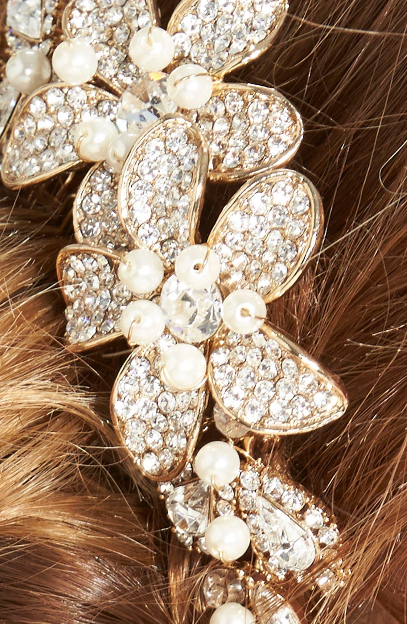 Alternate Image 2  - Wedding Belles New York Bead & Crystal Head Comb