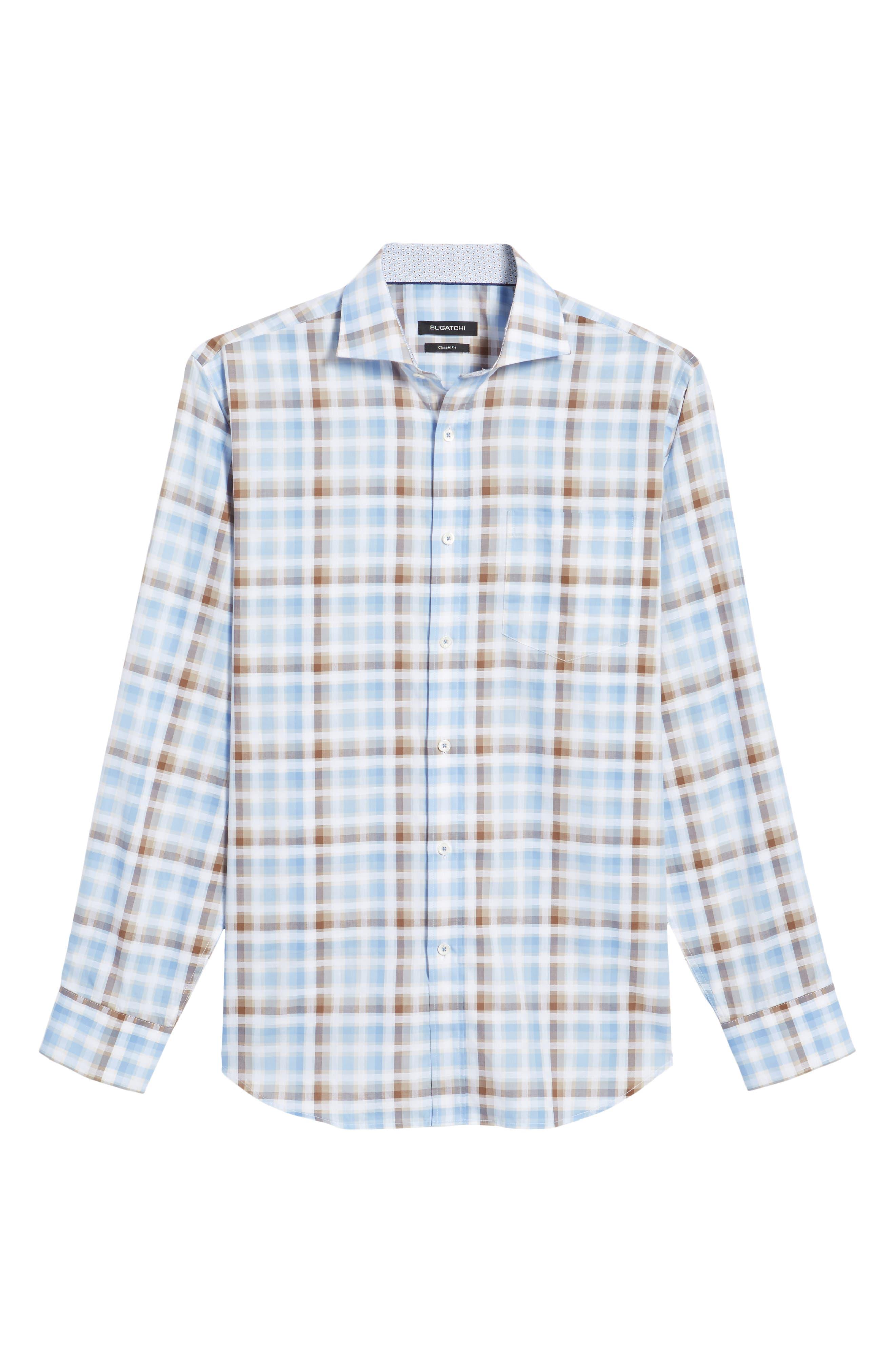 Regular Fit Check Sport Shirt,                             Alternate thumbnail 6, color,                             Mocha