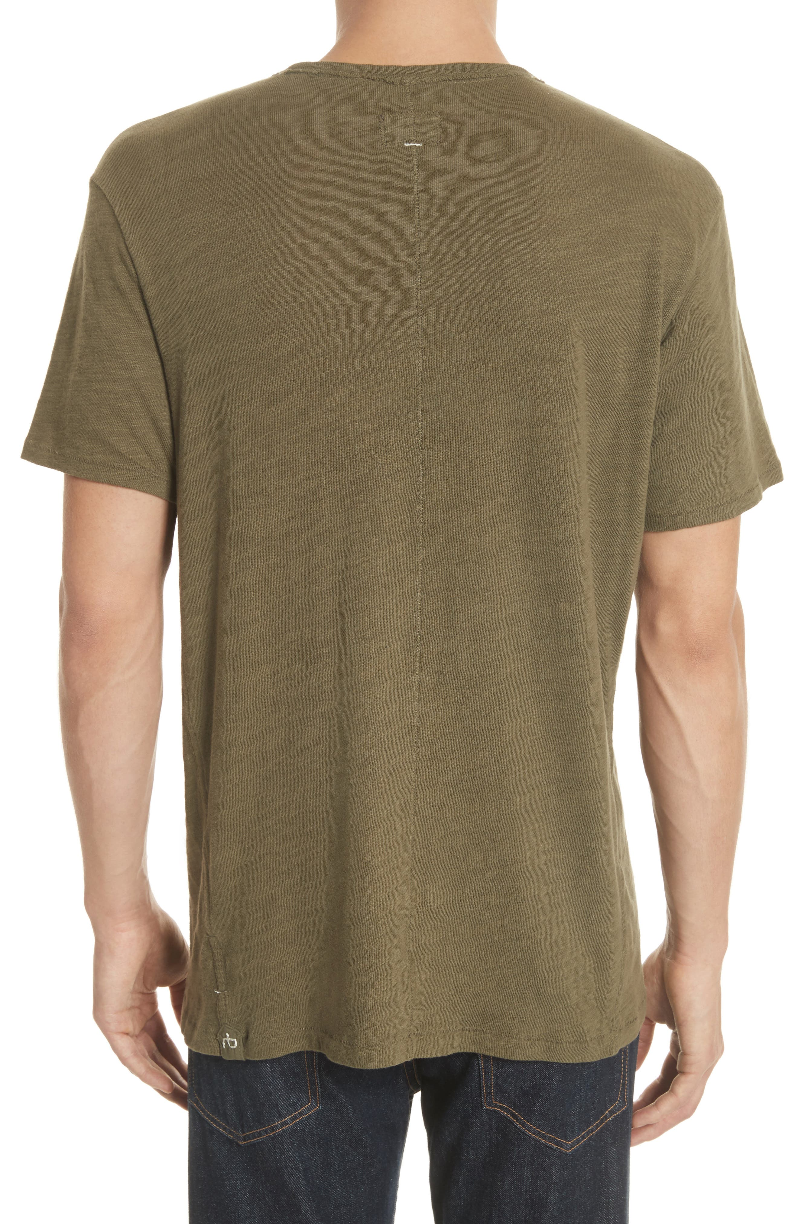 Standard Issue Slubbed Cotton T-Shirt,                             Alternate thumbnail 2, color,                             Army