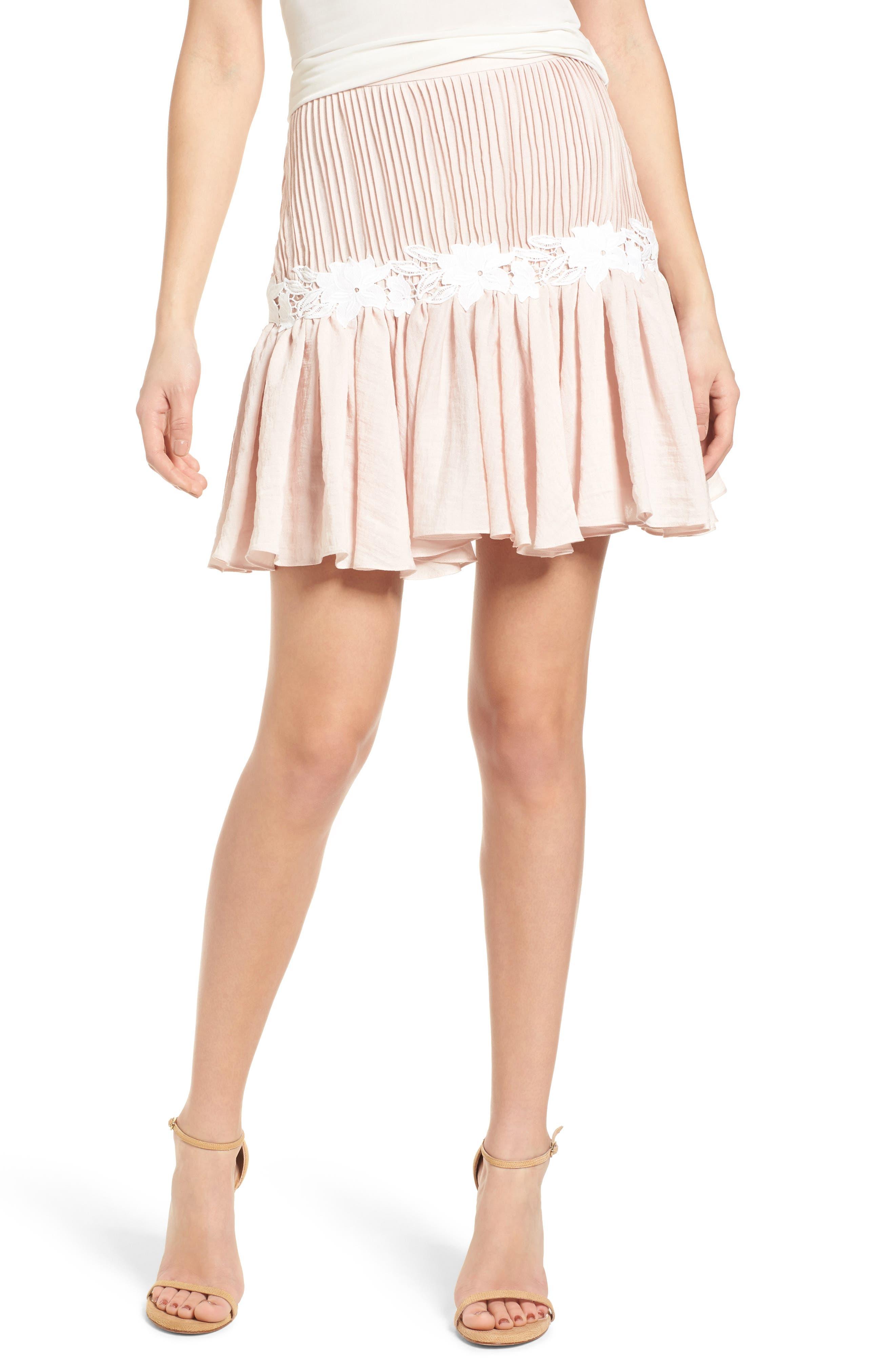 Keepsake the Label All Mine Ruffle Miniskirt