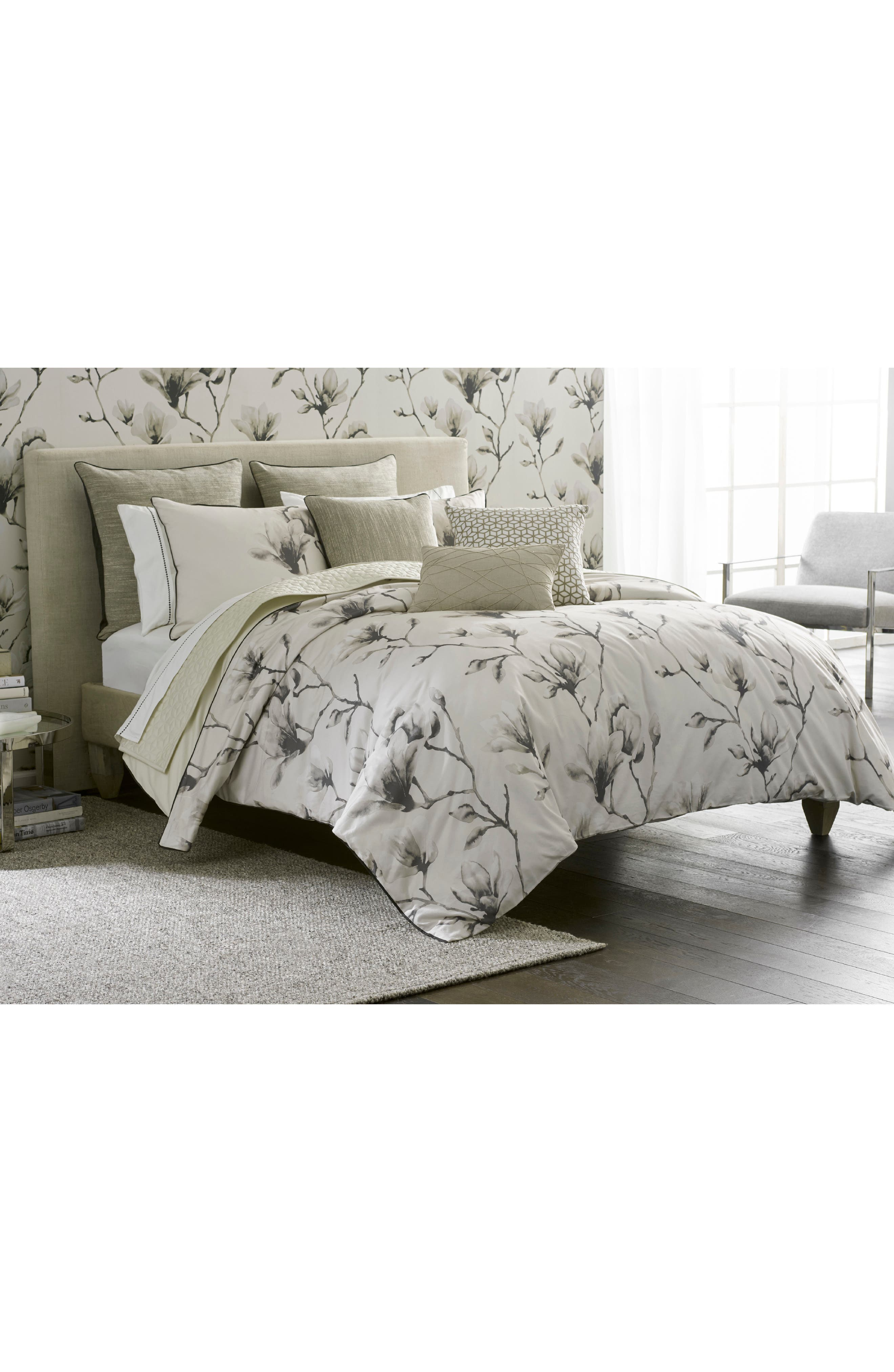 Lotus Duvet Cover,                         Main,                         color, Taupe