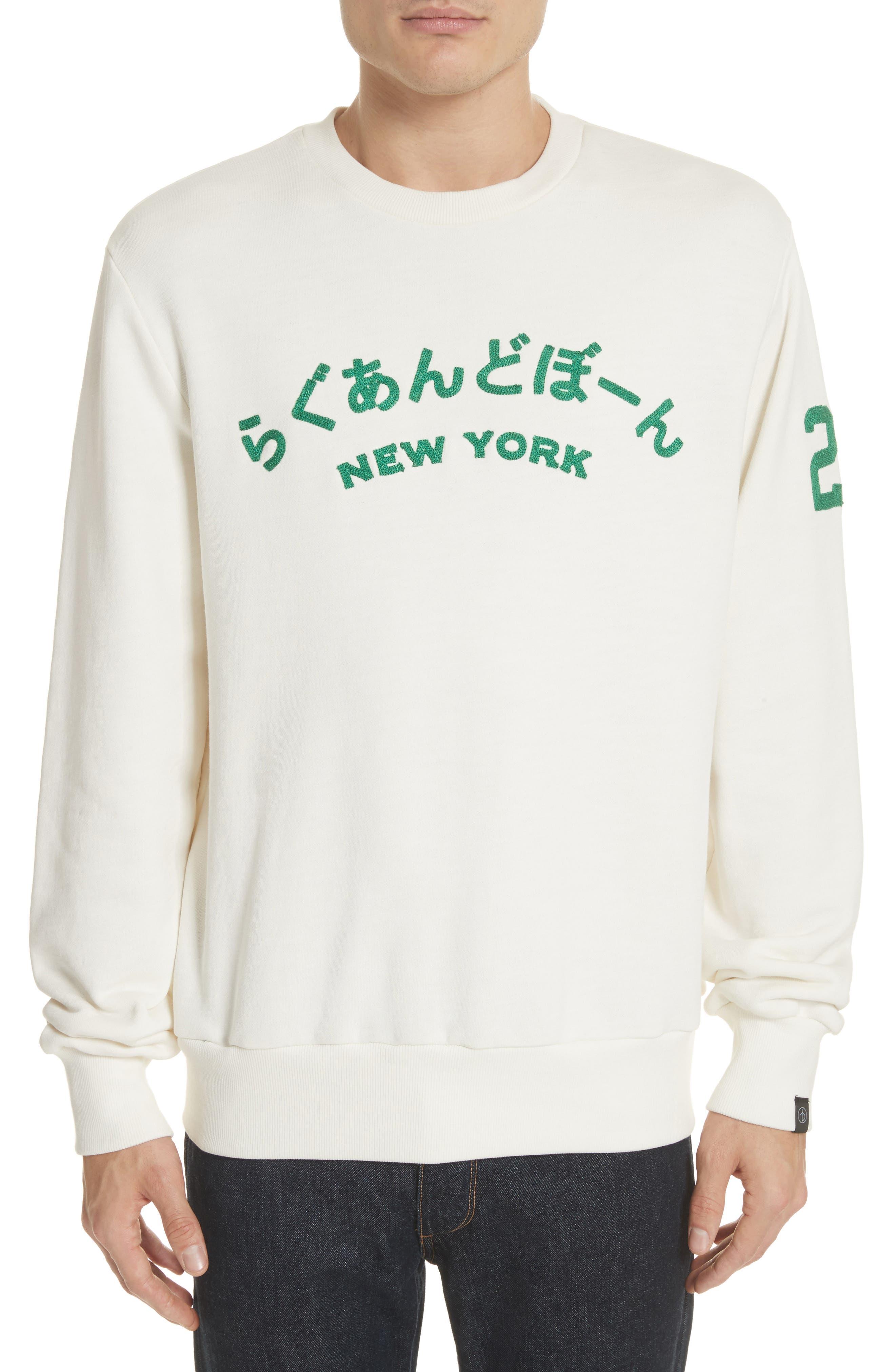 Alternate Image 1 Selected - rag & bone Japan Embroidered Crewneck Sweatshirt