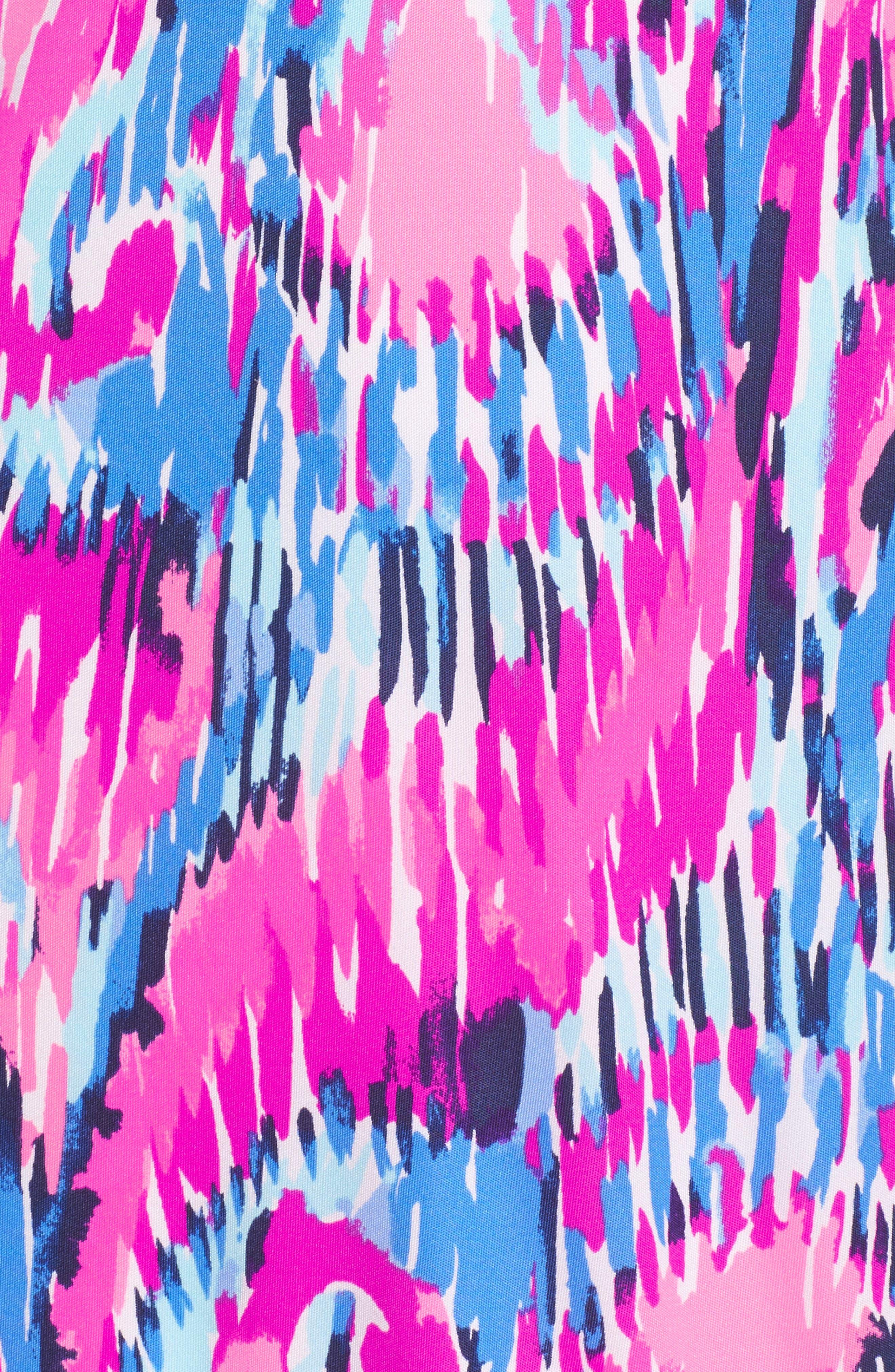 Amante One-Shoulder Silk Dress,                             Alternate thumbnail 5, color,                             Multi Free Spirit