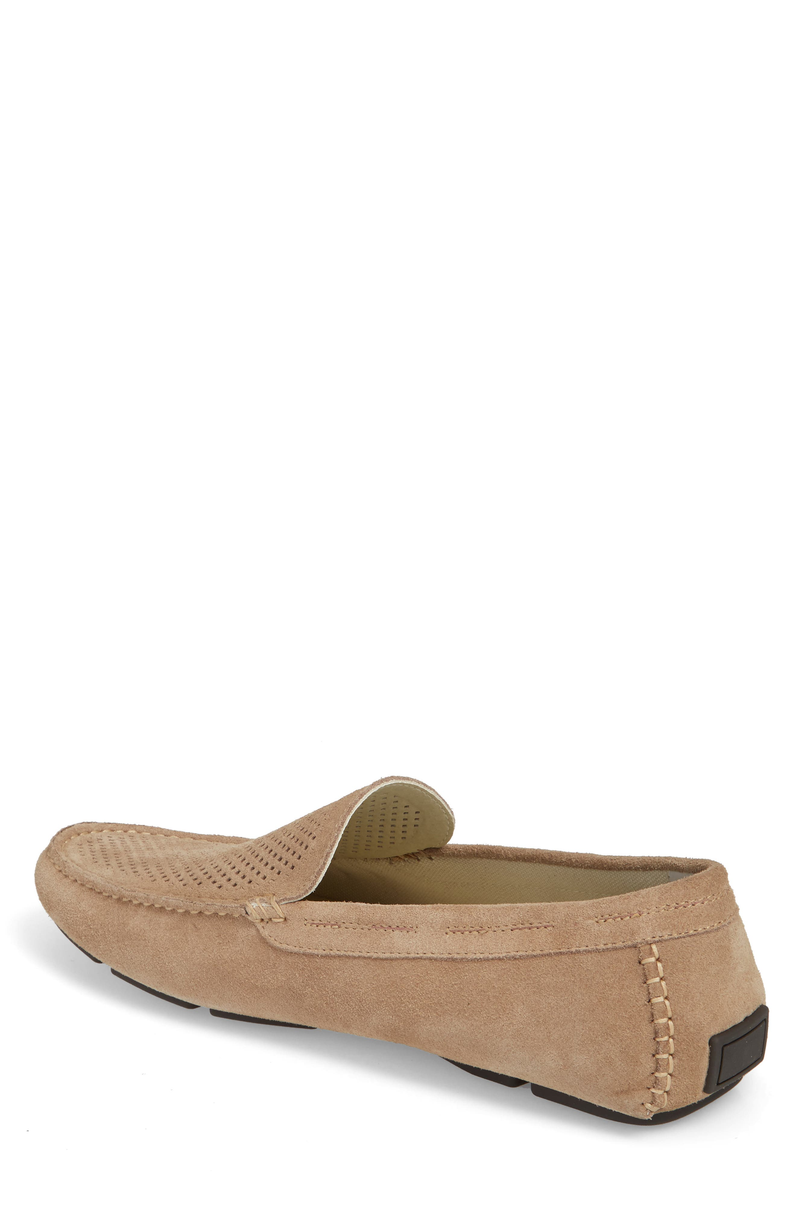 Scottsdale Perforated Driving Moccasin,                             Alternate thumbnail 2, color,                             Tan Suede
