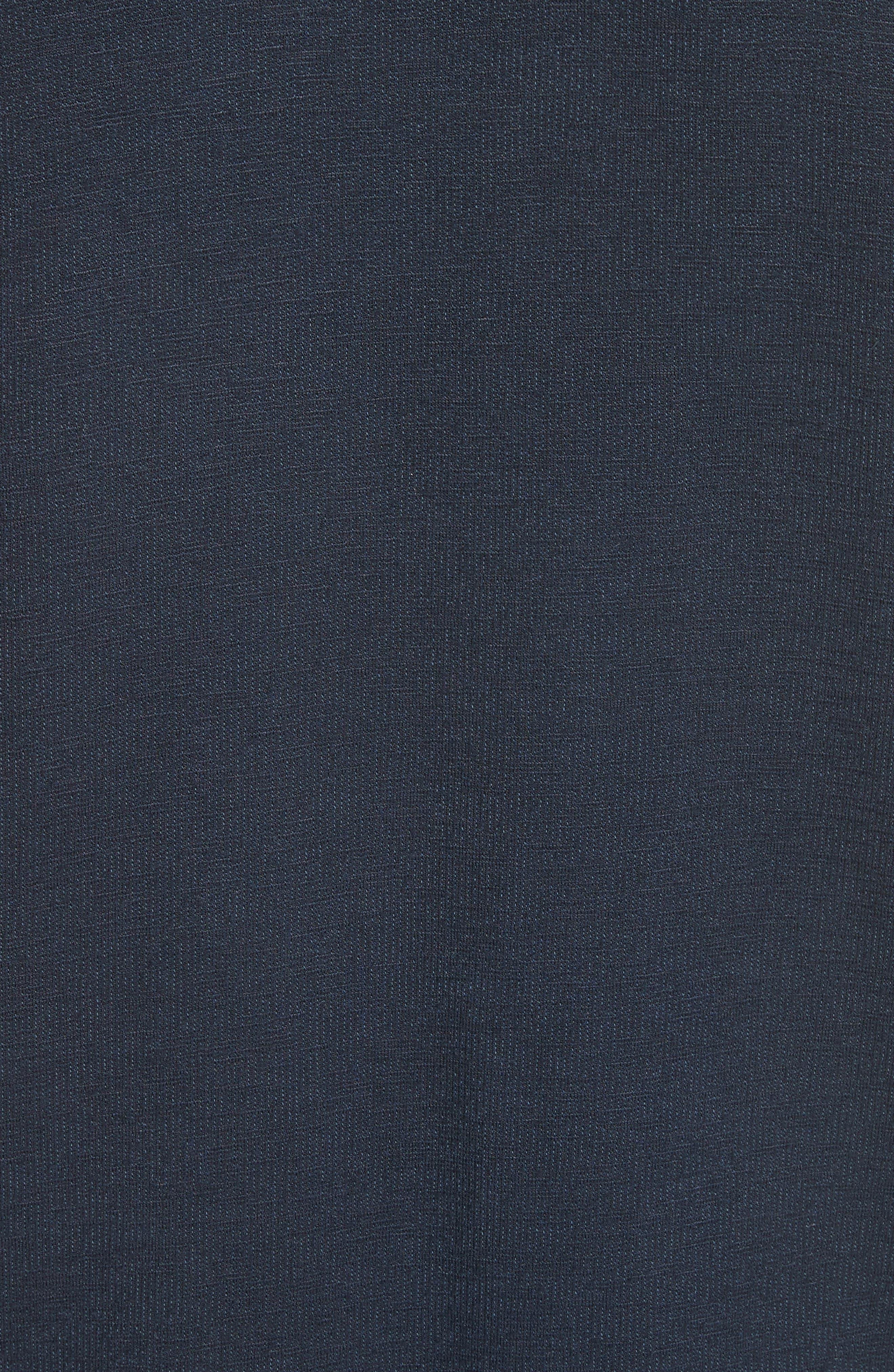 Lace Sleeve Sweatshirt,                             Alternate thumbnail 5, color,                             Navy