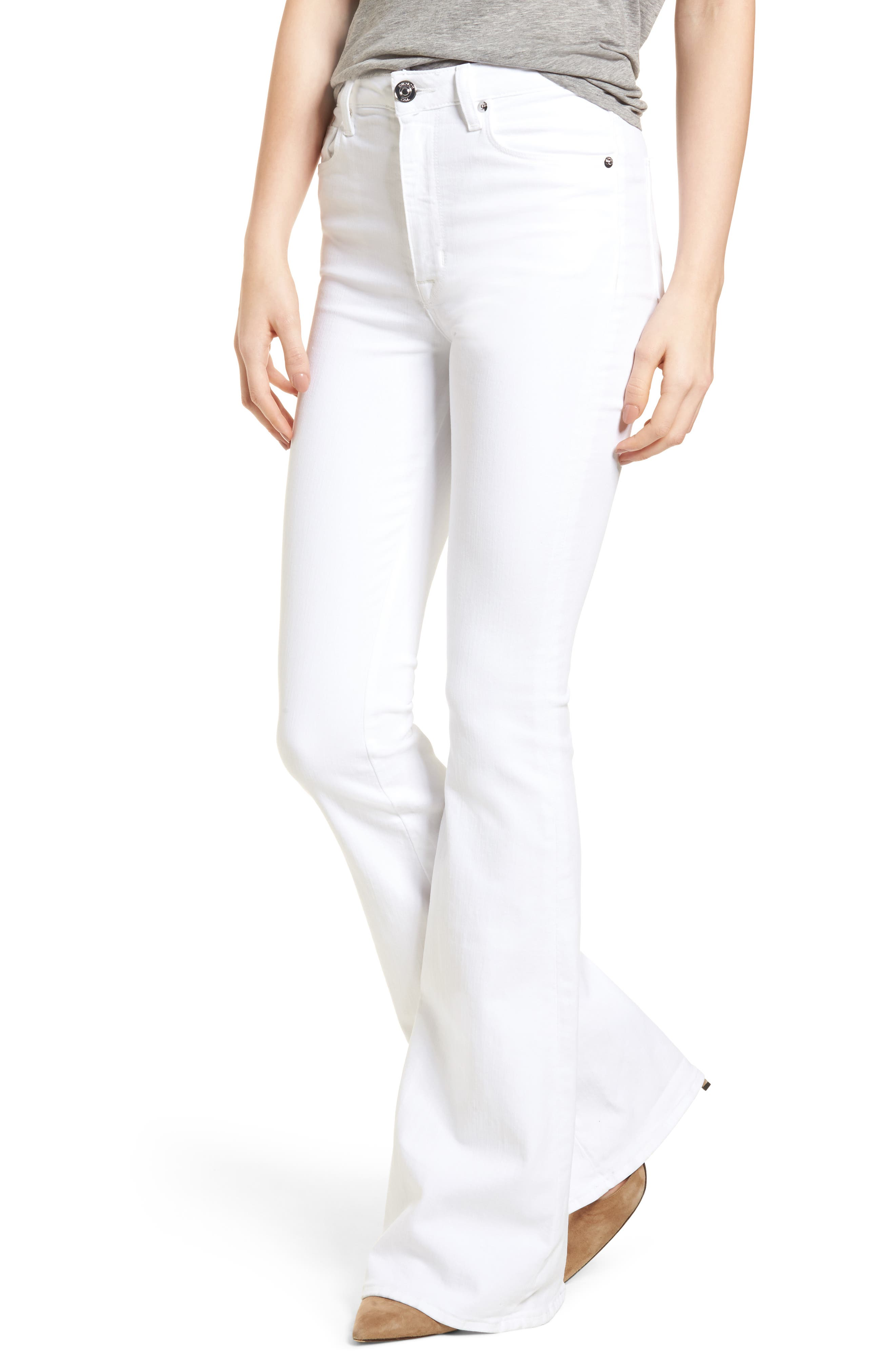 Holly High Waist Flare Jeans,                             Main thumbnail 1, color,                             Optical White