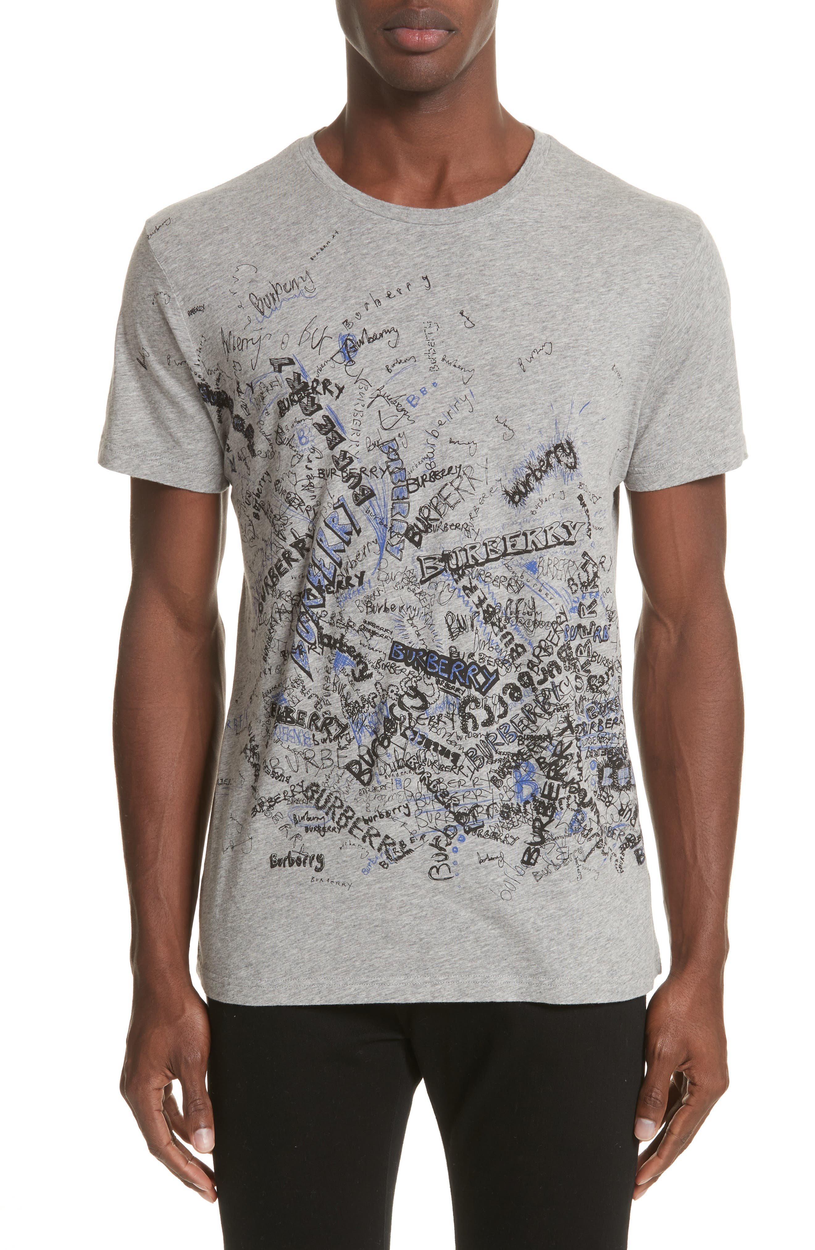 Becklow Standard Fit Graphic Tee,                             Main thumbnail 1, color,                             Pale Grey Melange