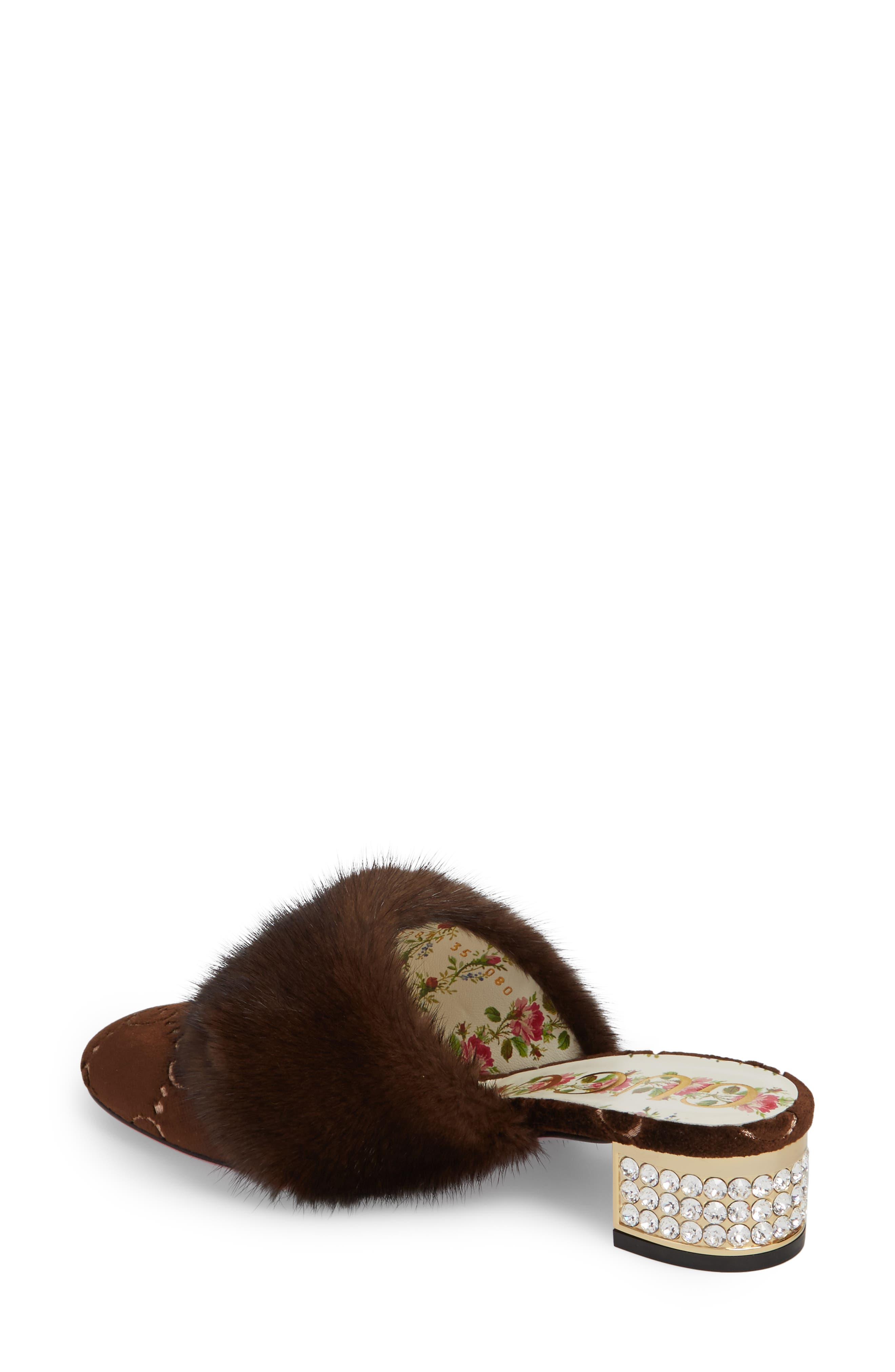 Alternate Image 2  - Gucci Candy Genuine Mink Fur Mule (Women)