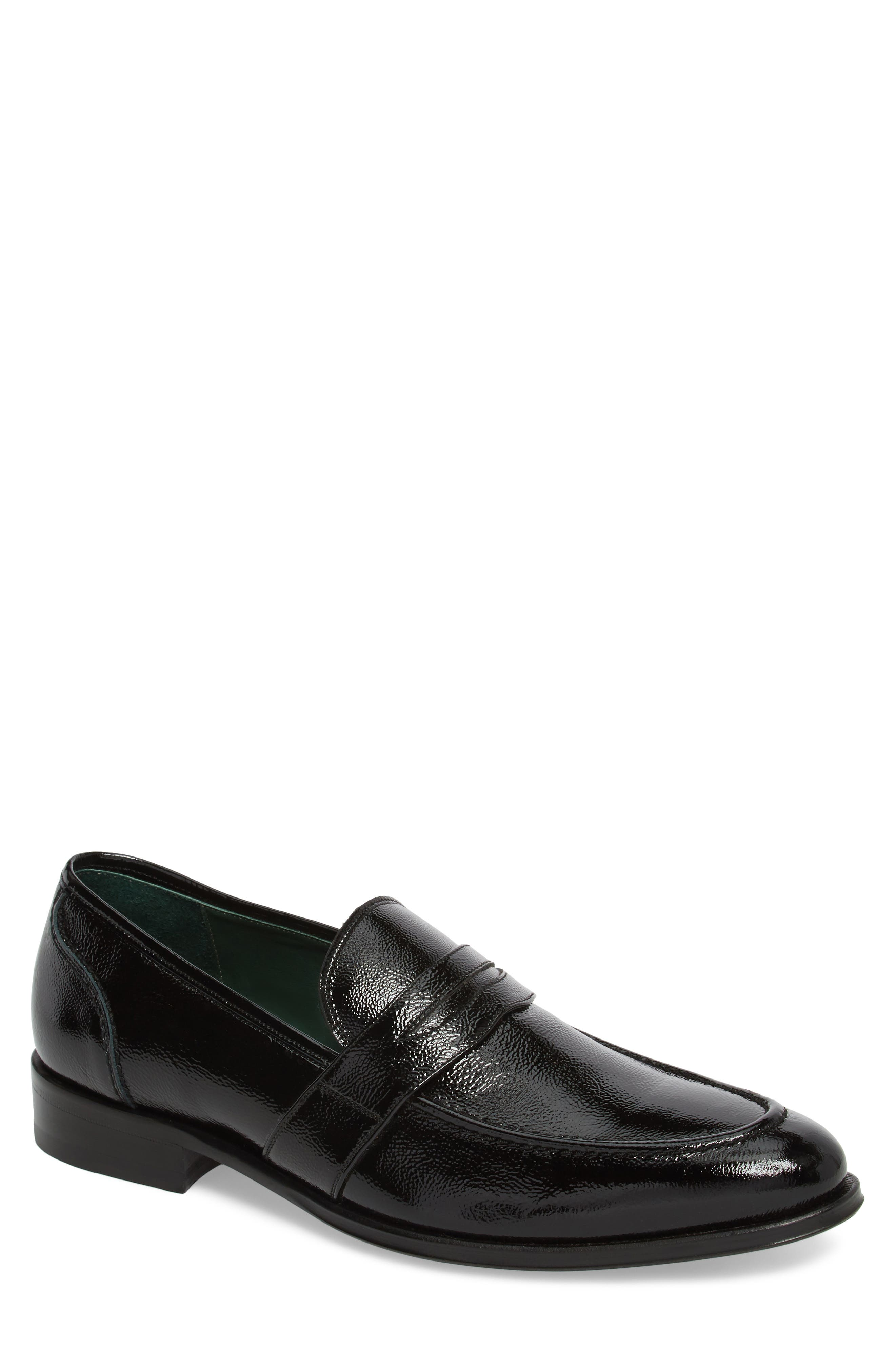 Argos Penny Loafer,                             Main thumbnail 1, color,                             Black Patent Leather