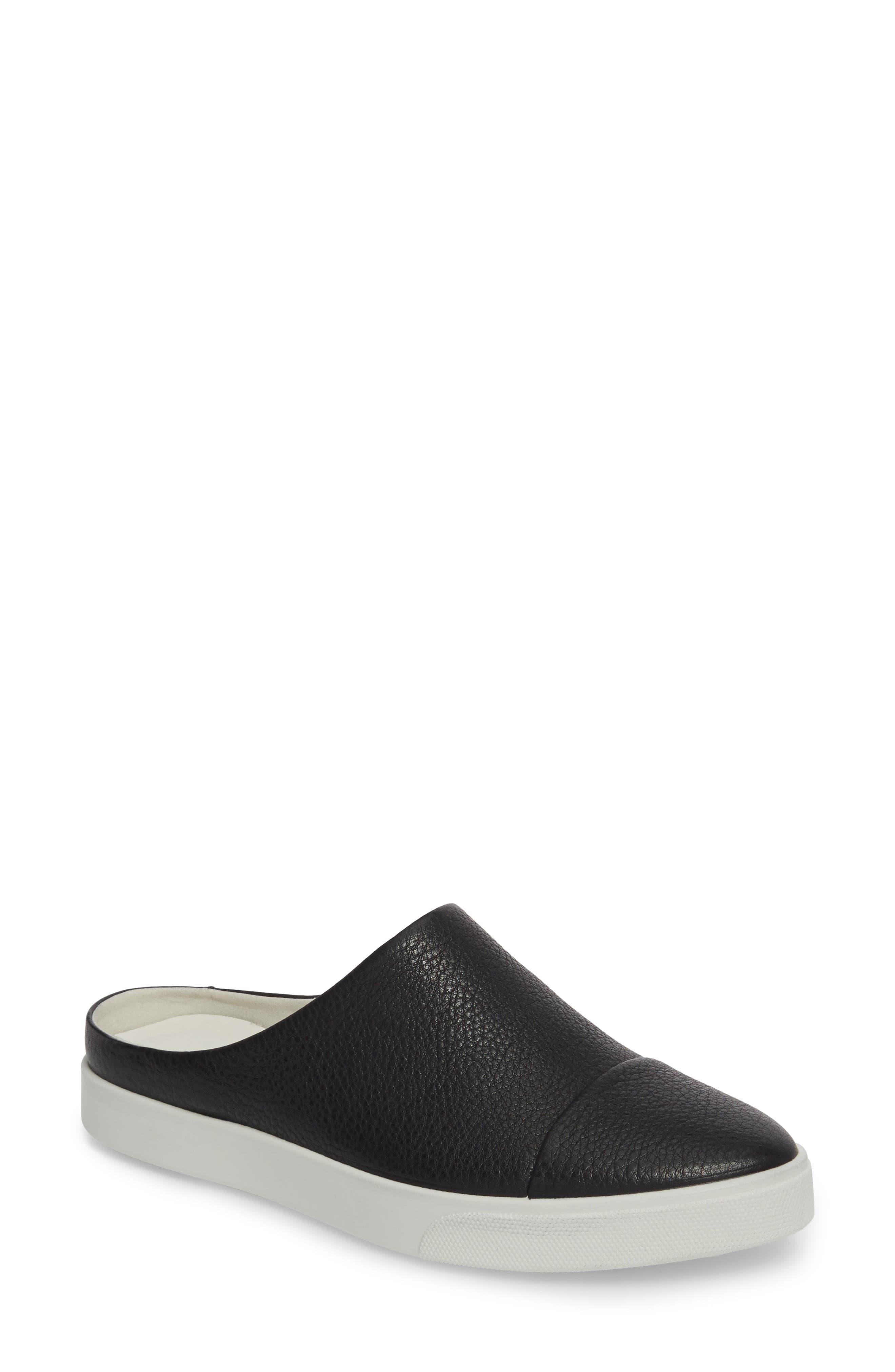 Gillian Slip-On Sneaker,                         Main,                         color, Black Leather