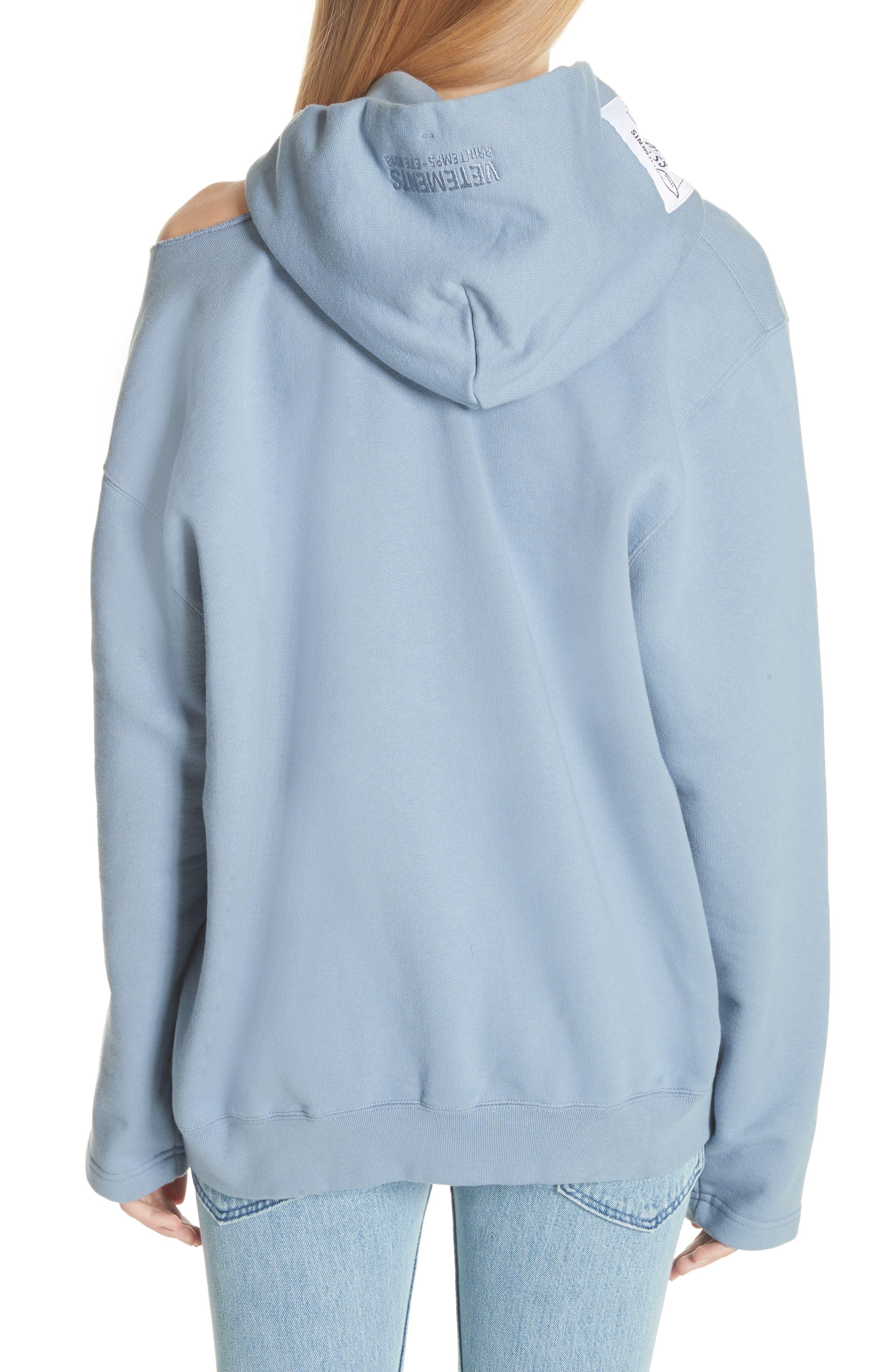Alternate Image 2  - Vetements Cold Shoulder Hoodie