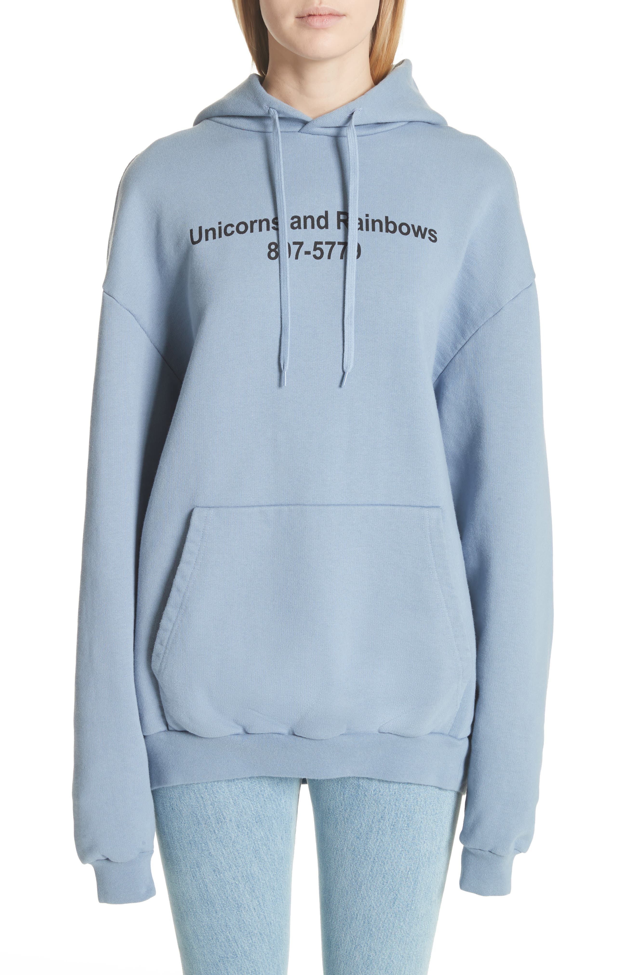 Vetements Unicorns & Rainbows Print Hoodie