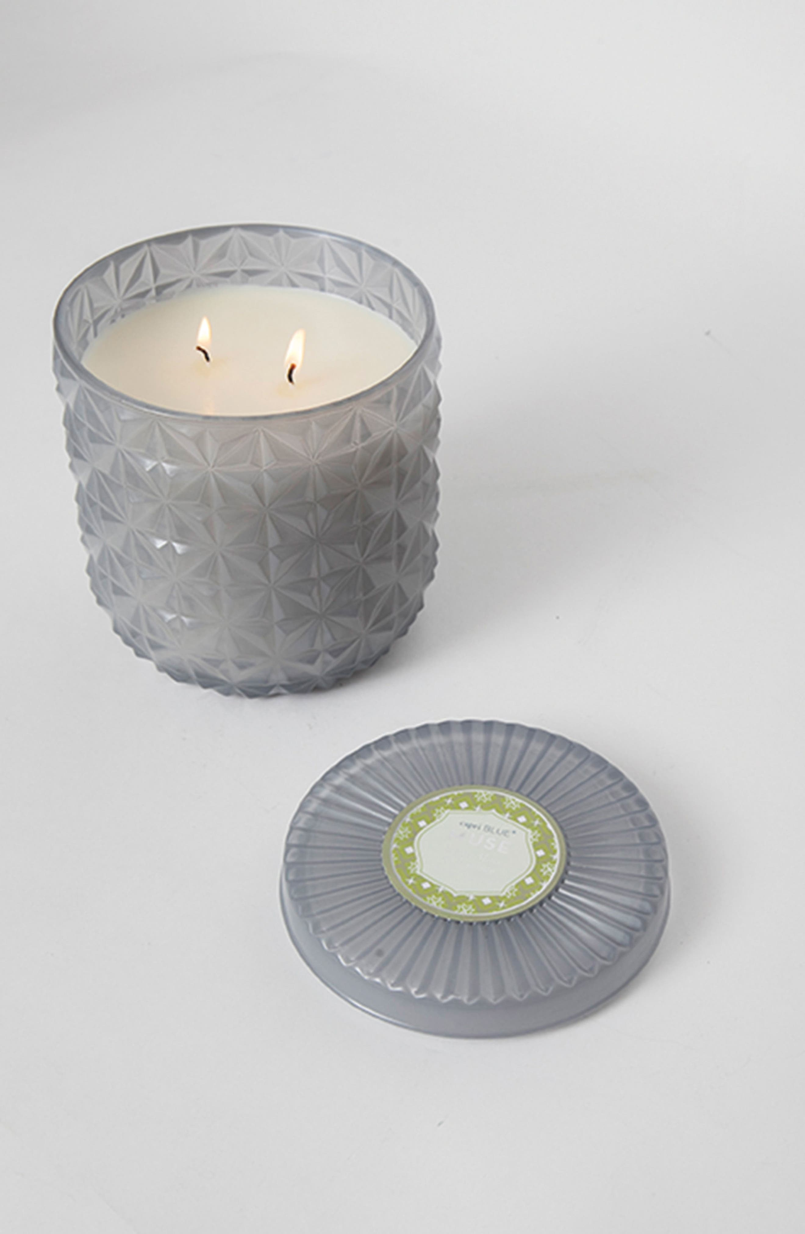 Muse Collection Jumbo Faceted Jar Candle,                             Alternate thumbnail 3, color,                             Light Gray