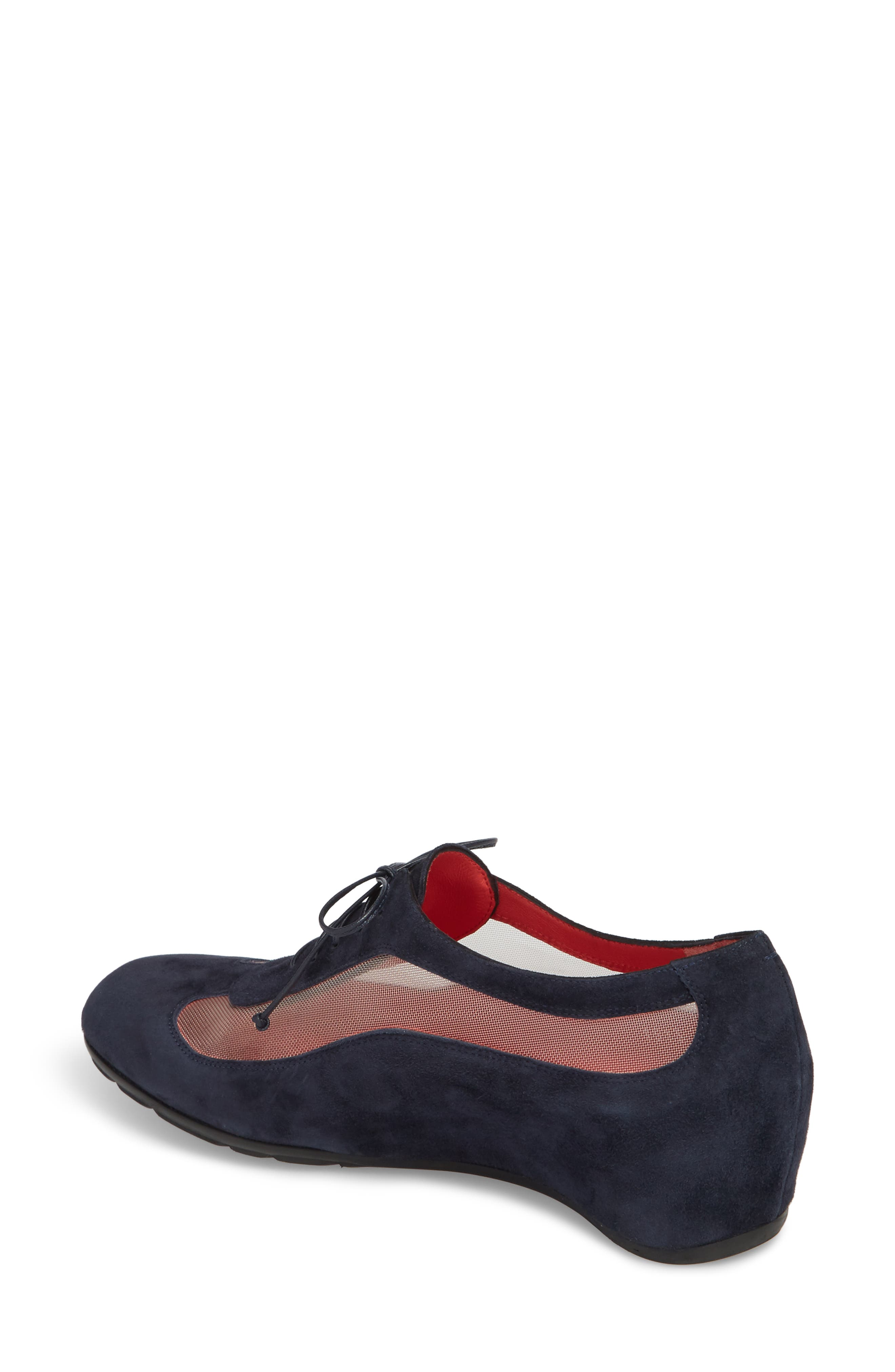 Gipsy Lace Up Skimmer,                             Alternate thumbnail 2, color,                             Blue Suede
