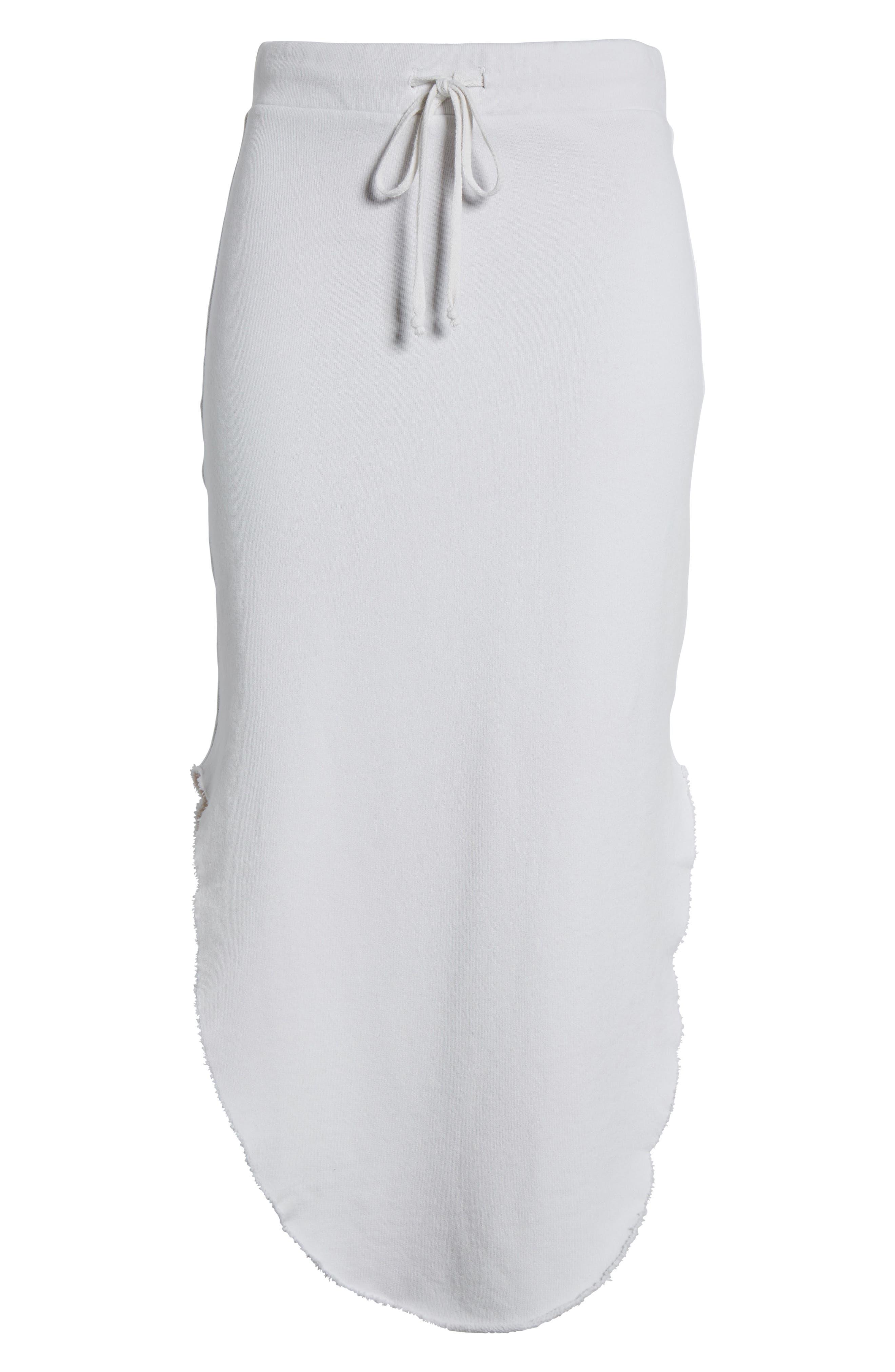 Midi Fleece Skirt,                             Alternate thumbnail 7, color,                             Dirty White