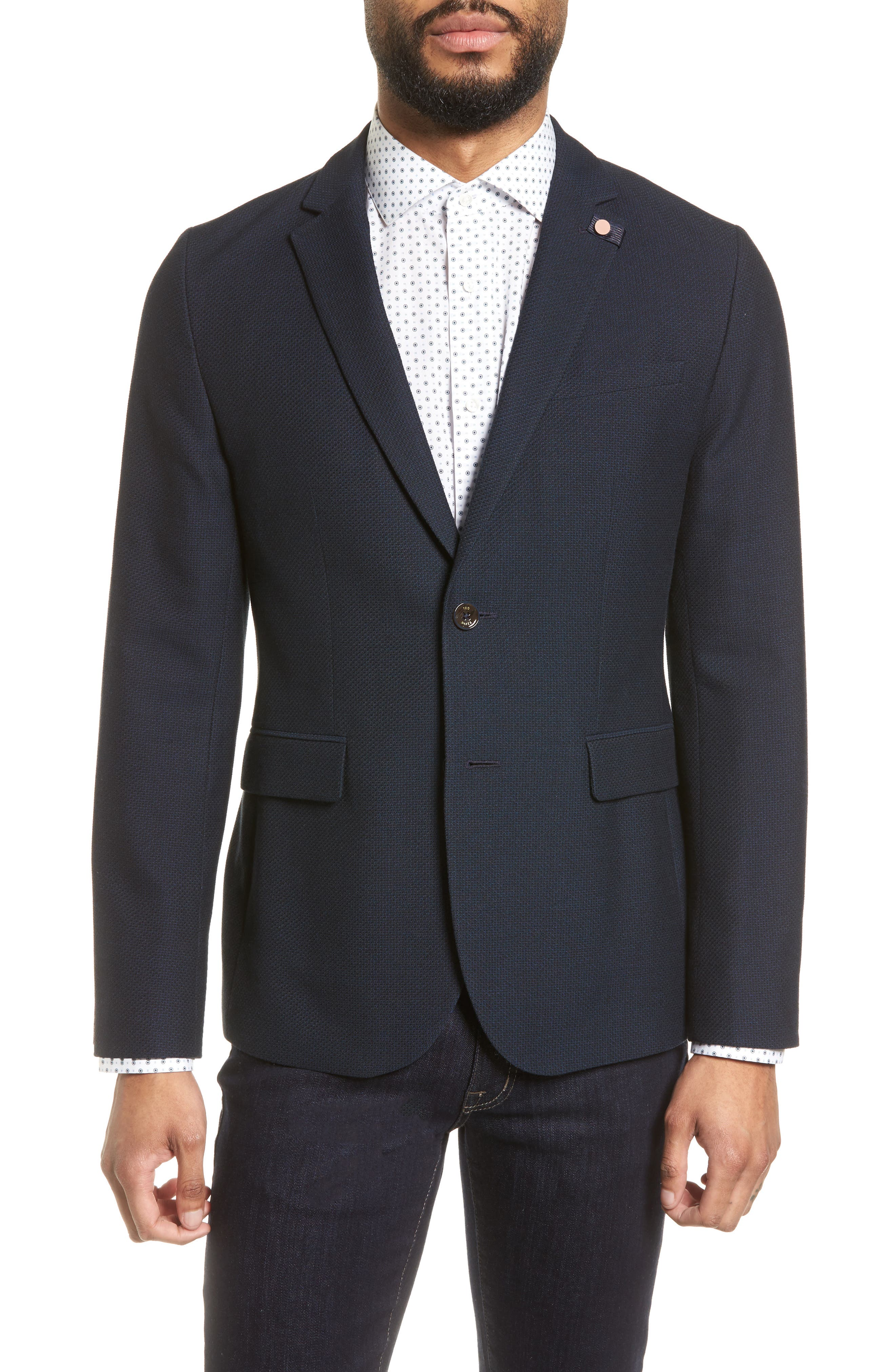 Olsson Textured Sport Coat,                         Main,                         color, Navy