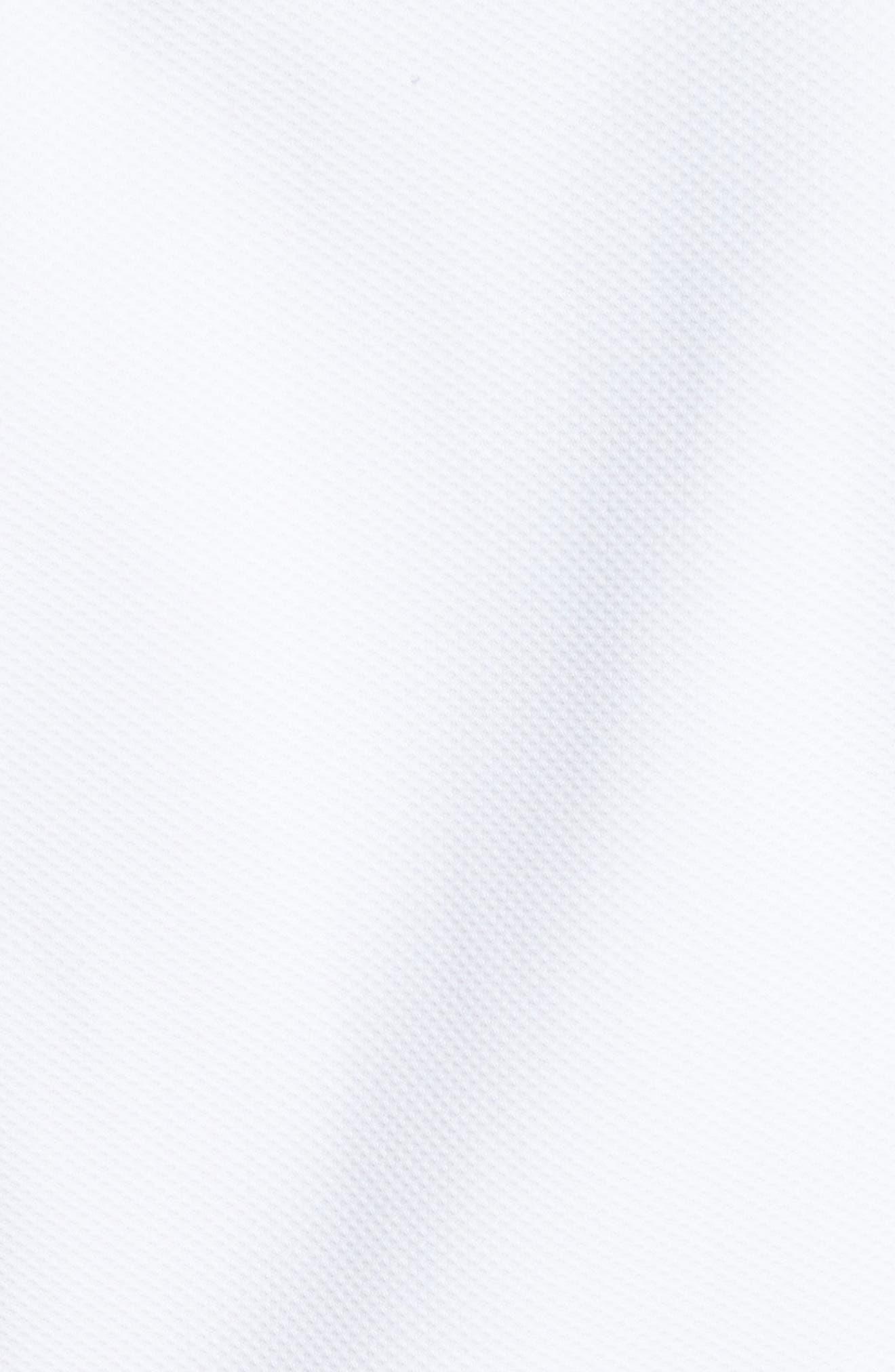 Peplum Hem Piqué Dress,                             Alternate thumbnail 6, color,                             Optic White