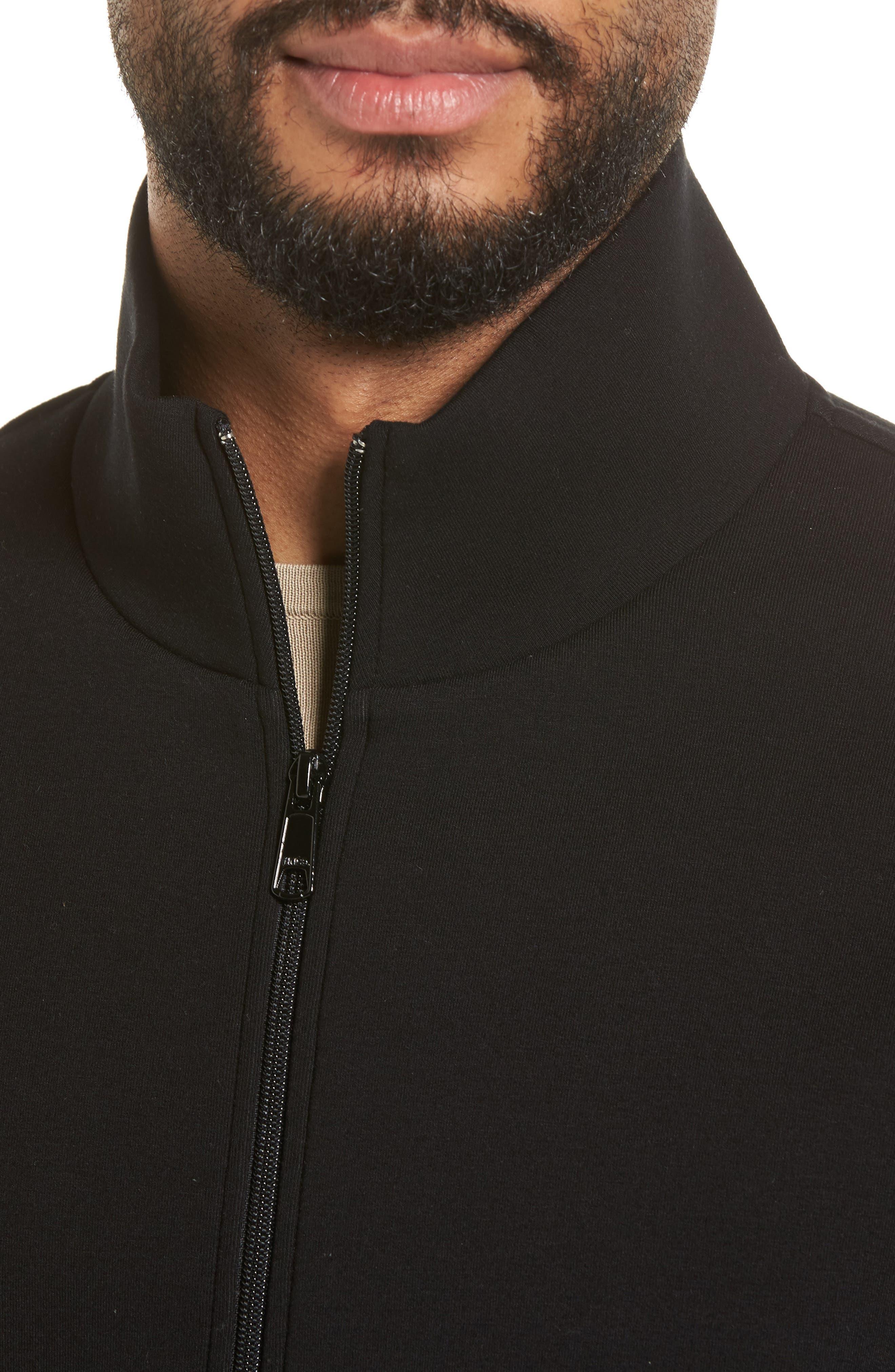Slim Fit Tech Jacket,                             Alternate thumbnail 4, color,                             Black
