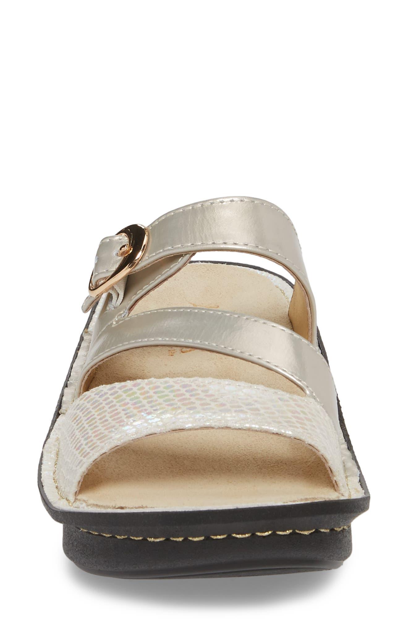 'Colette' Platform Sandal,                             Alternate thumbnail 4, color,                             Opfully Leather