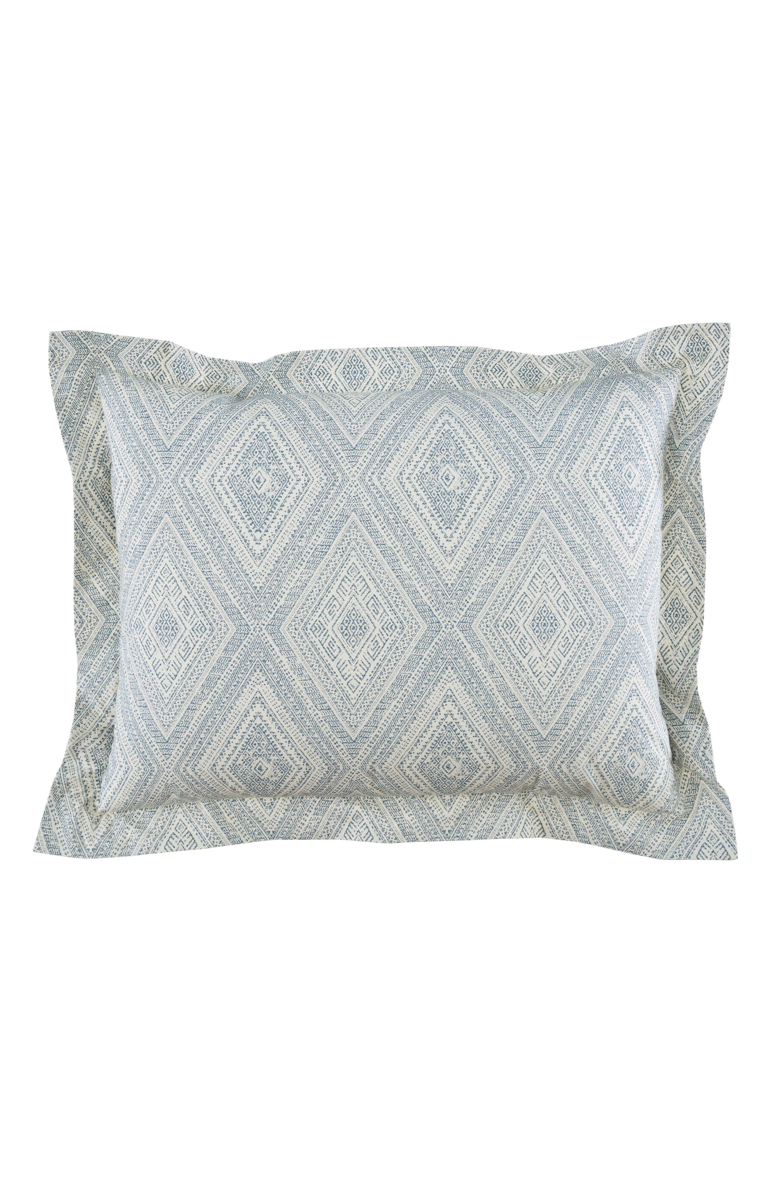 Caspiane 200 Thread Count Pair of Pillow Shams,                         Main,                         color, Turquoise/ Aqua